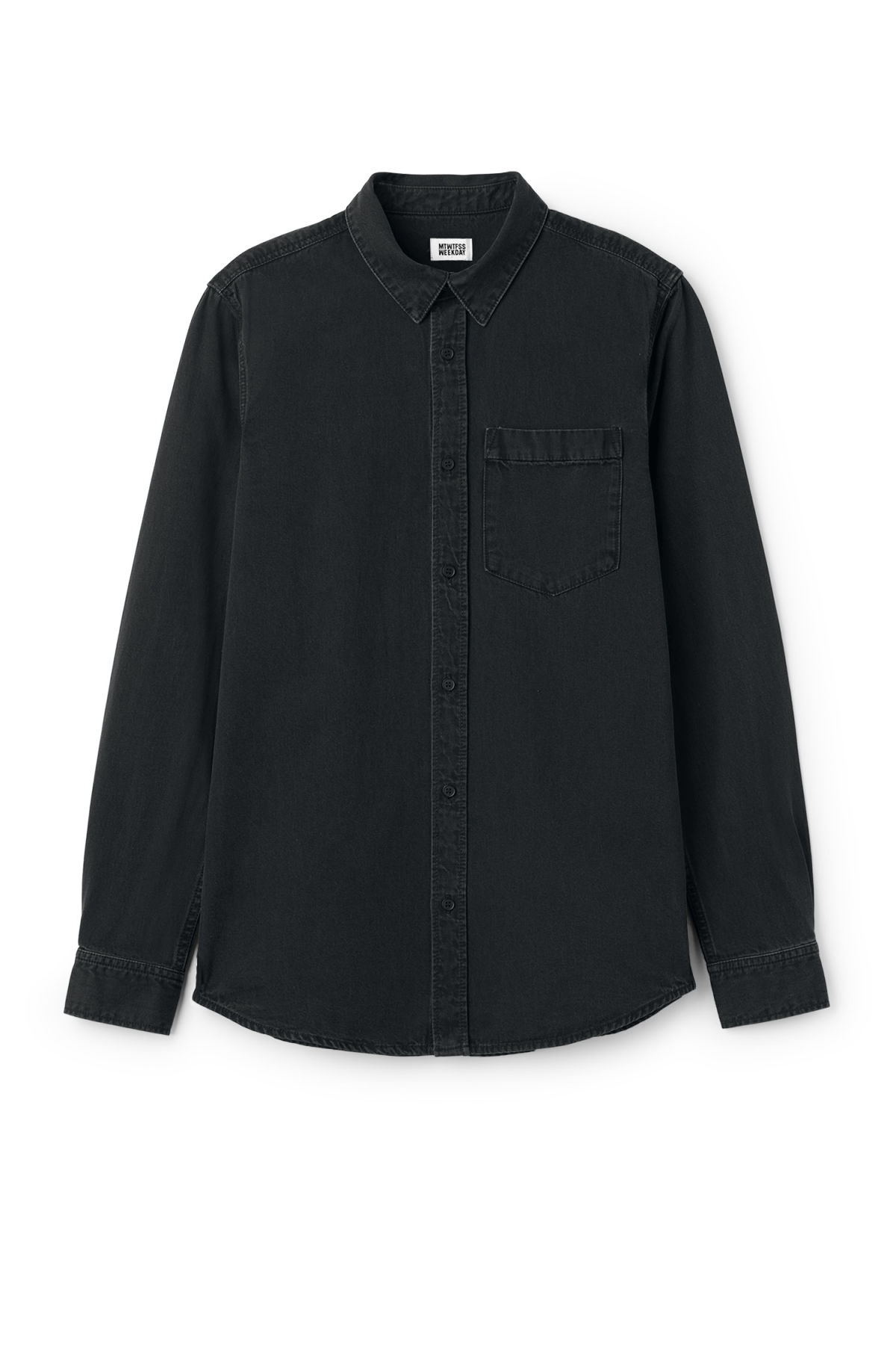 Front image of Weekday class shirt in black