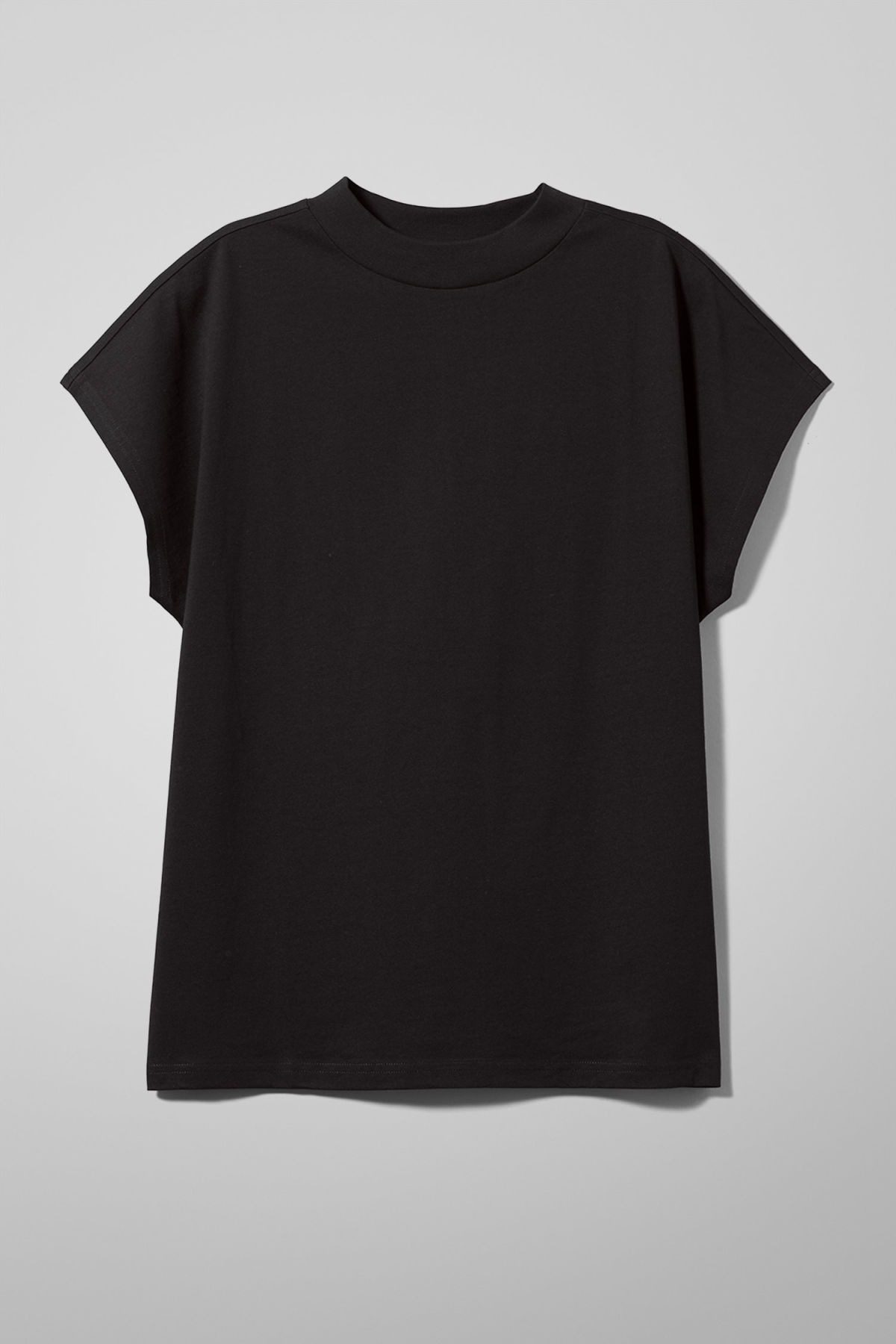 Front image of Weekday prime t-shirt in black