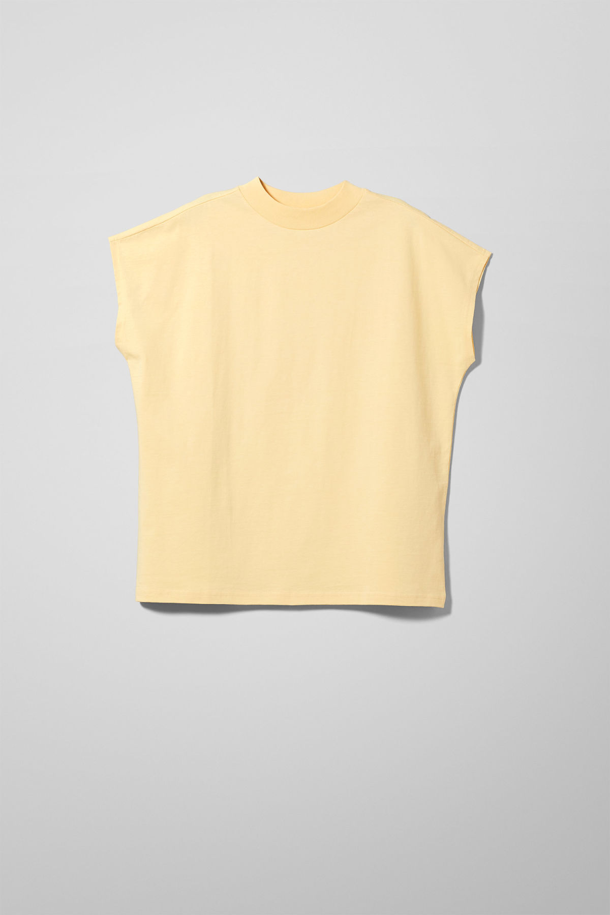 Front image of Weekday prime t-shirt in yellow