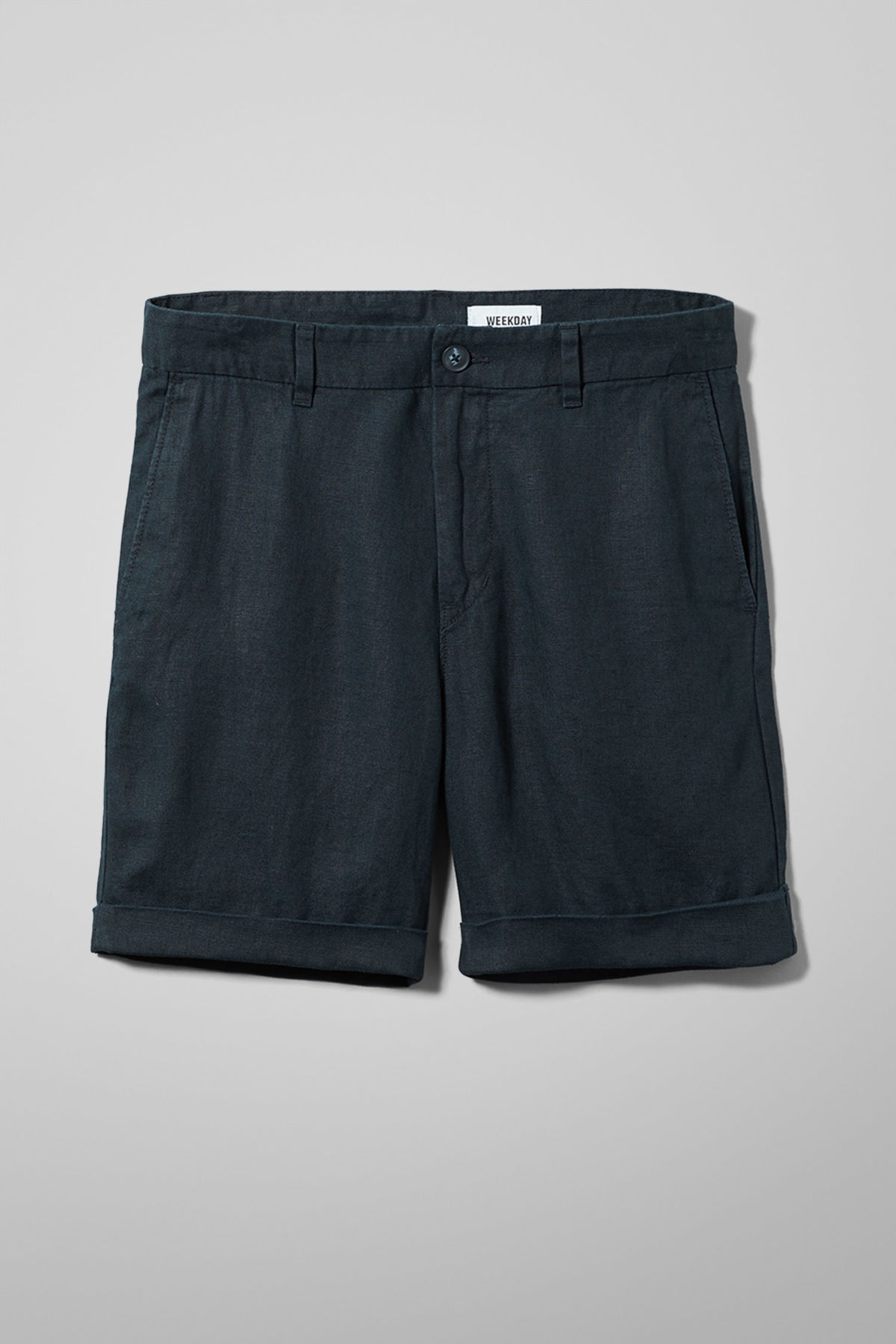 Front image of Weekday mash shorts in blue