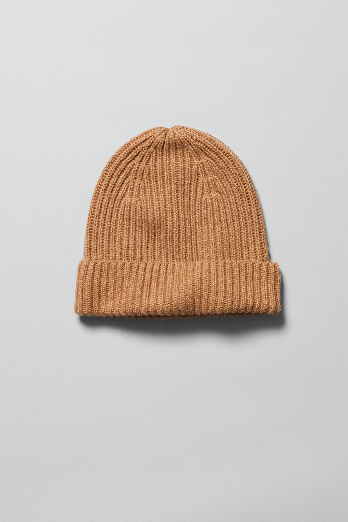 Front image of Weekday place knit beanie in orange