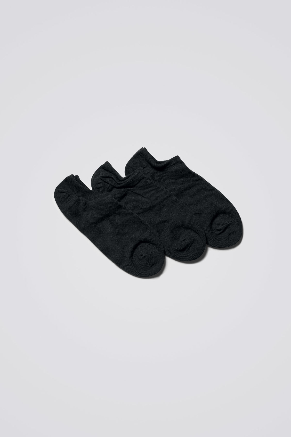 Front image of Weekday lol ankle socks in black