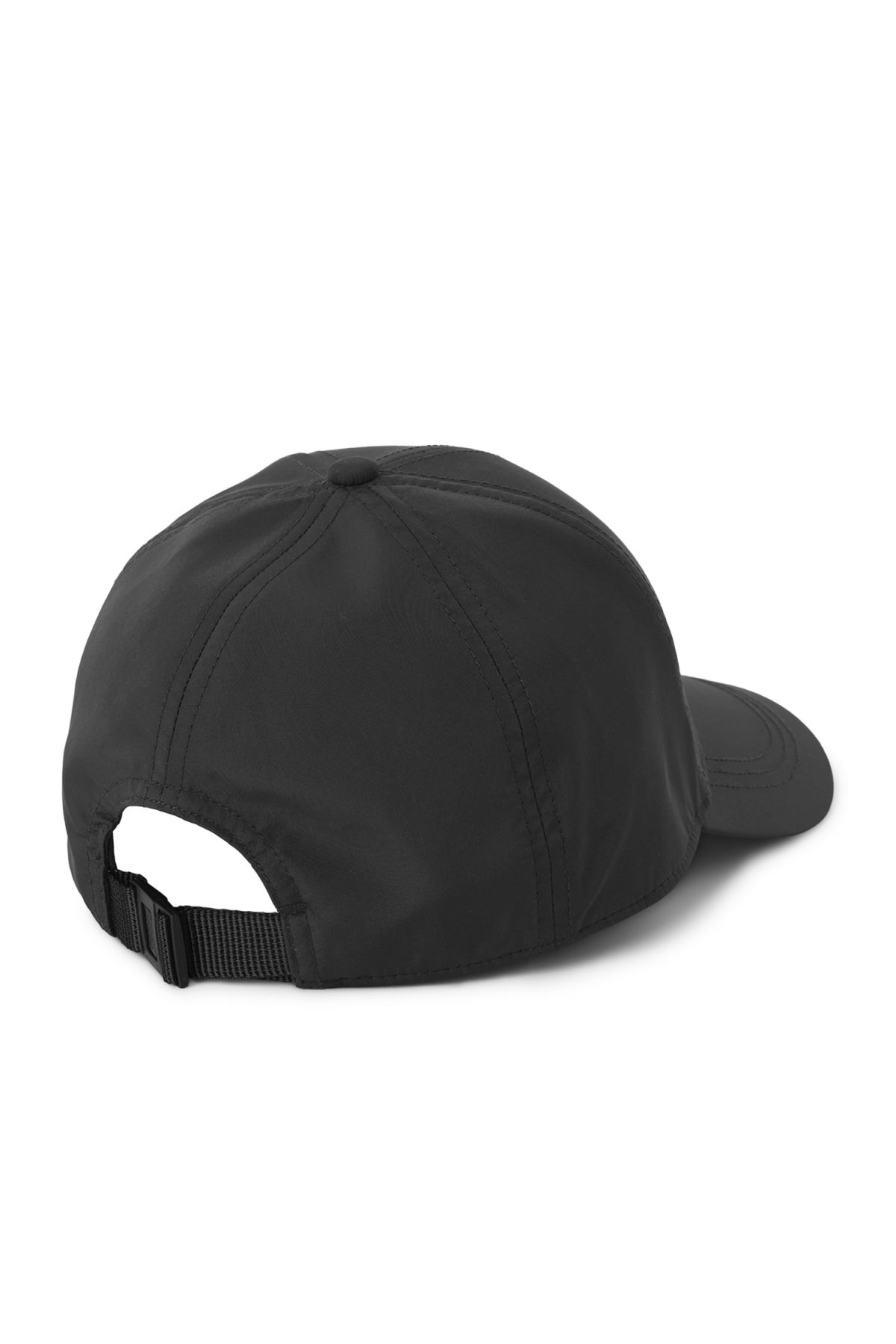 Back image of Weekday steal cap in black