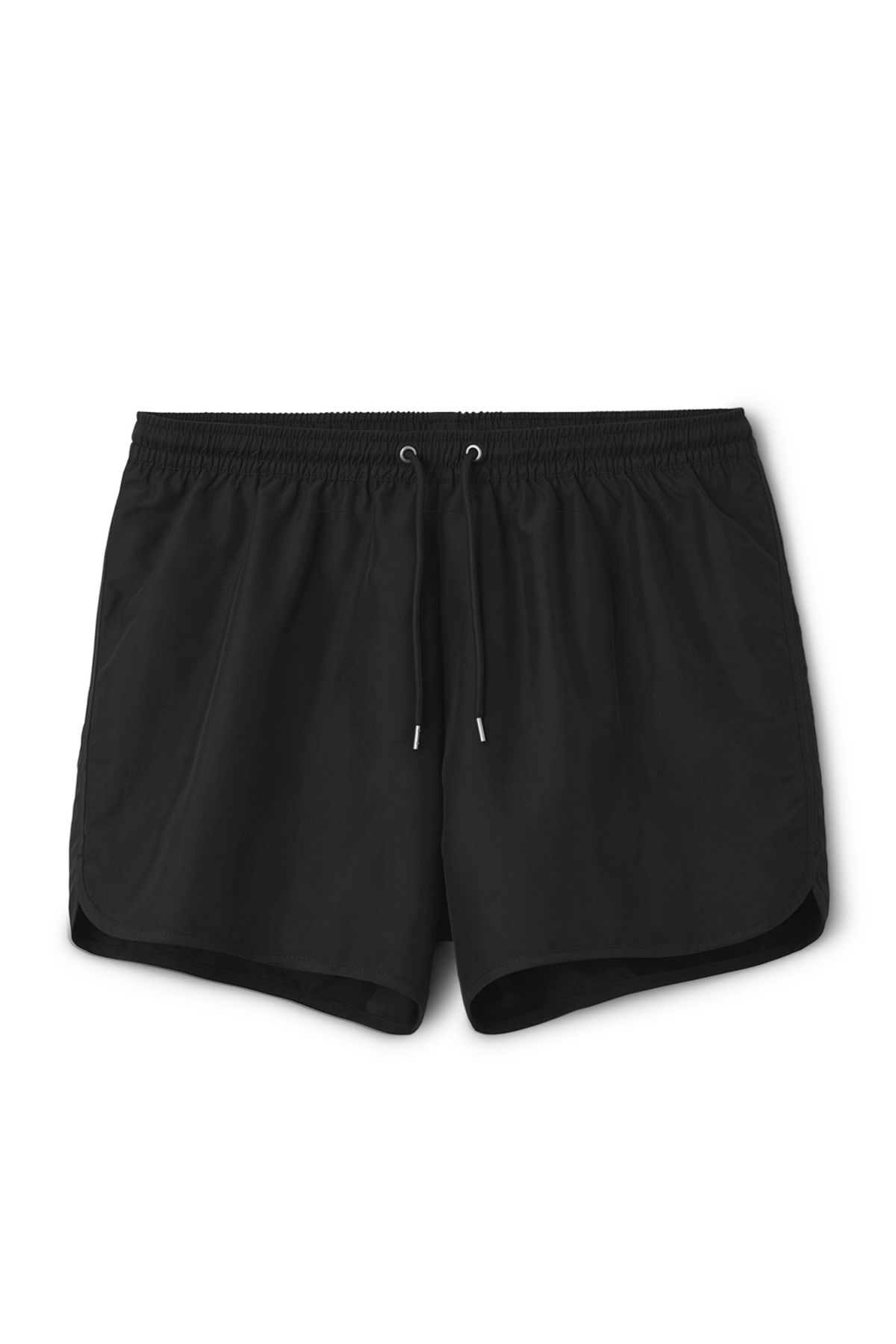 Front image of Weekday flow swim shorts in black