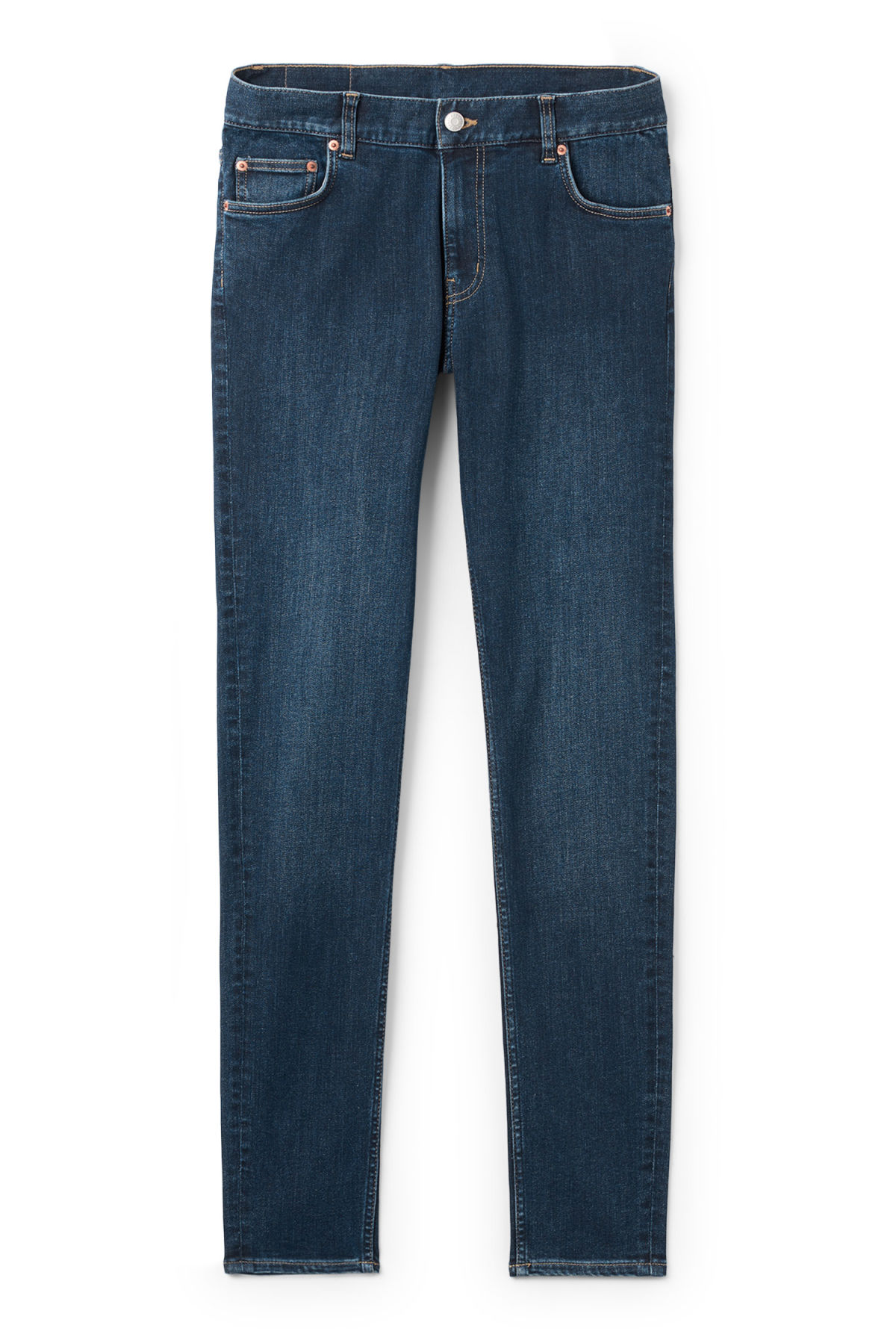 Front image of Weekday form sun jeans in blue