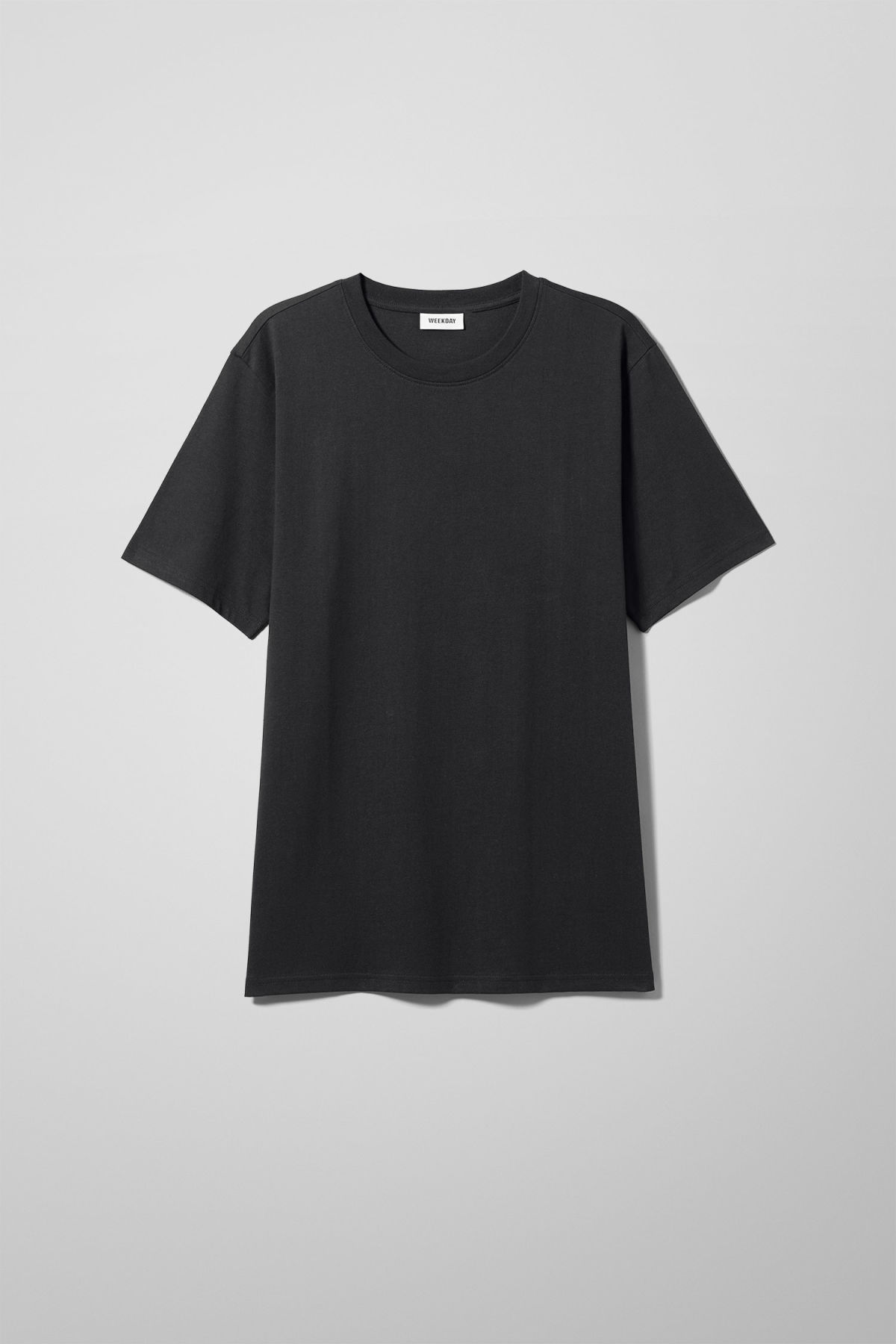 Front image of Weekday frank t-shirt in black