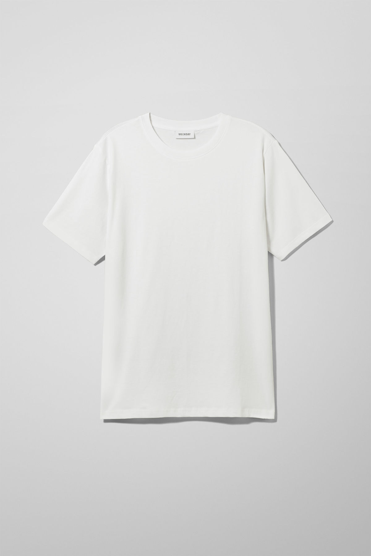 Front image of Weekday frank t-shirt in white