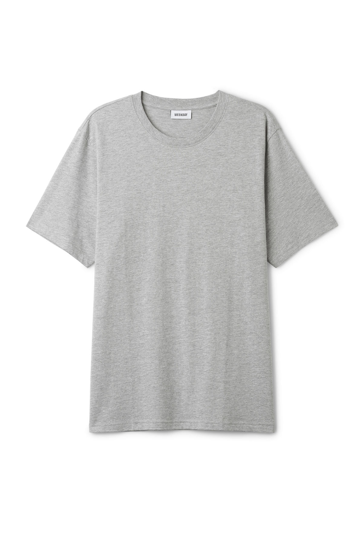 Front image of Weekday frank t-shirt in grey