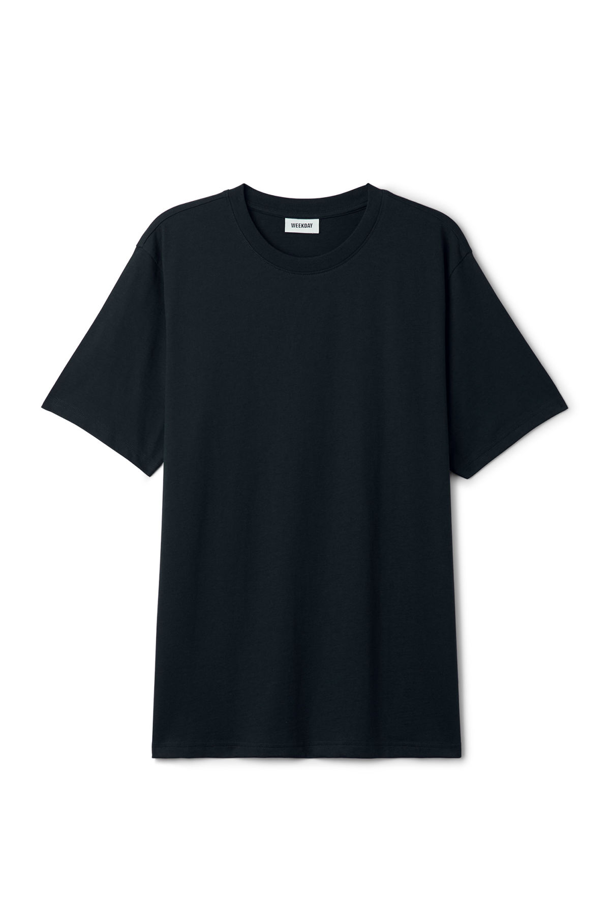 Front image of Weekday frank t-shirt in blue