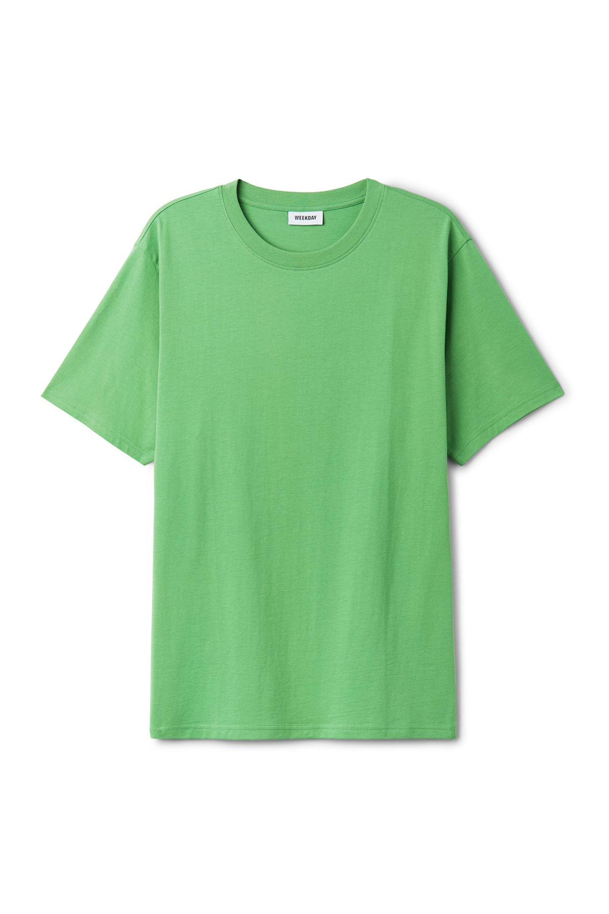 Front image of Weekday frank t-shirt in green