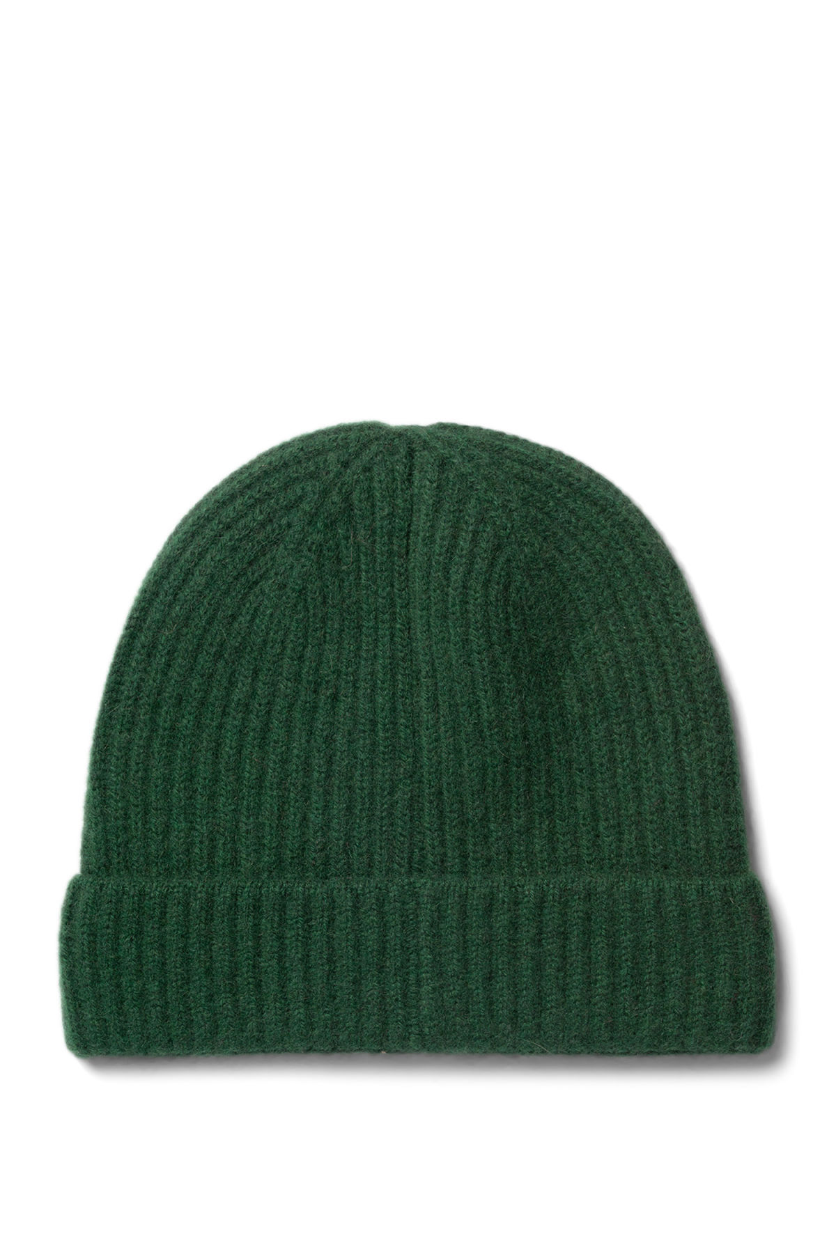Front image of Weekday mon cashmere knit beanie in green