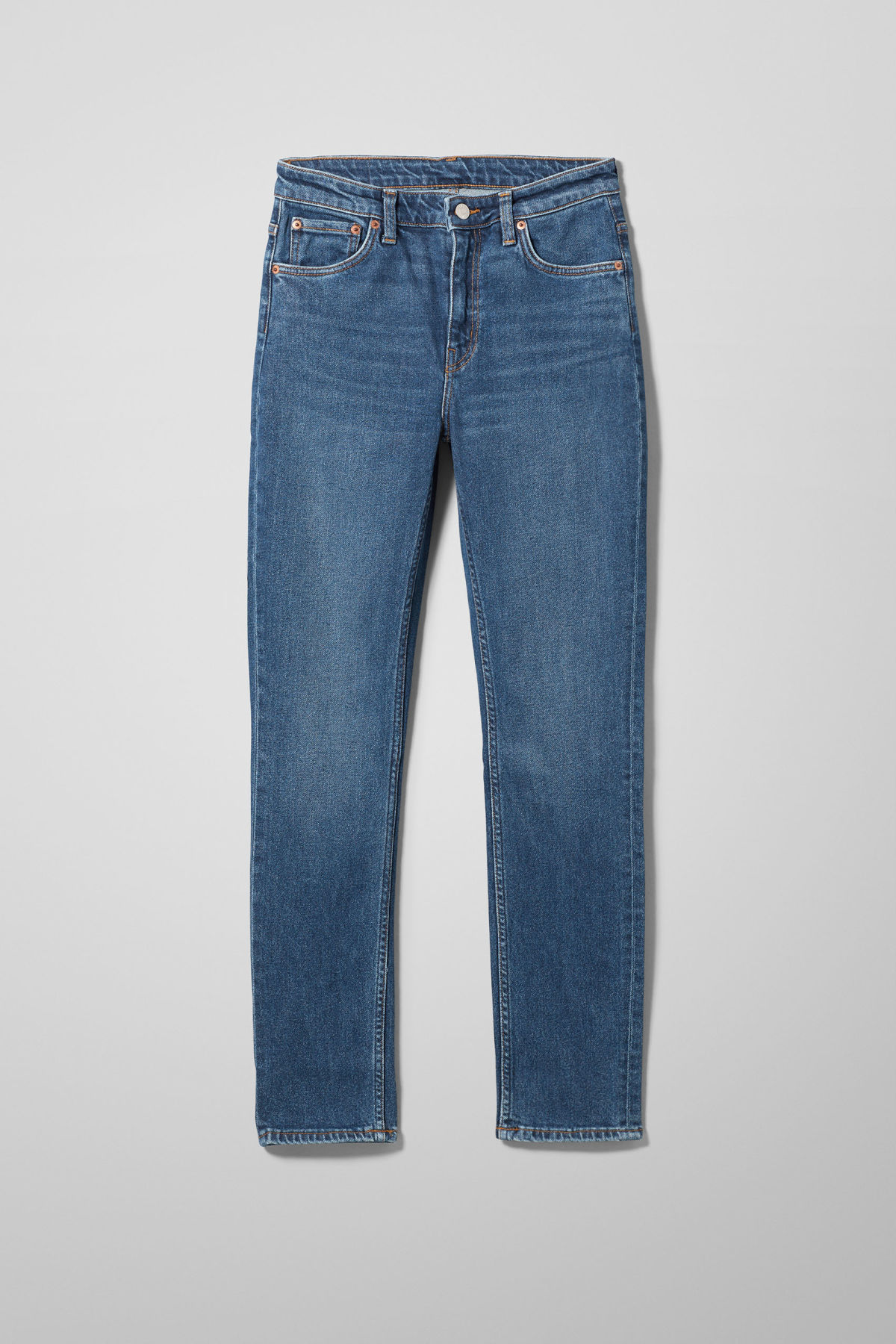 Front image of Weekday way peralta blue jeans in blue