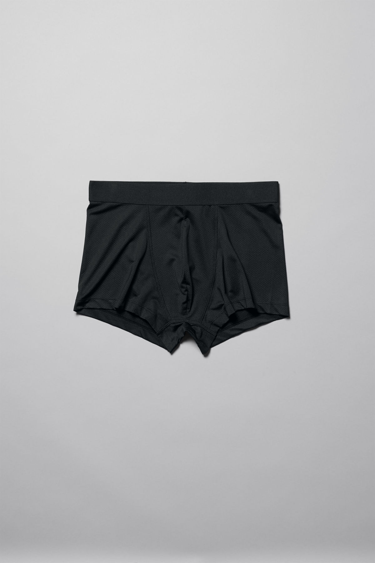 Front image of Weekday jack boxers in black