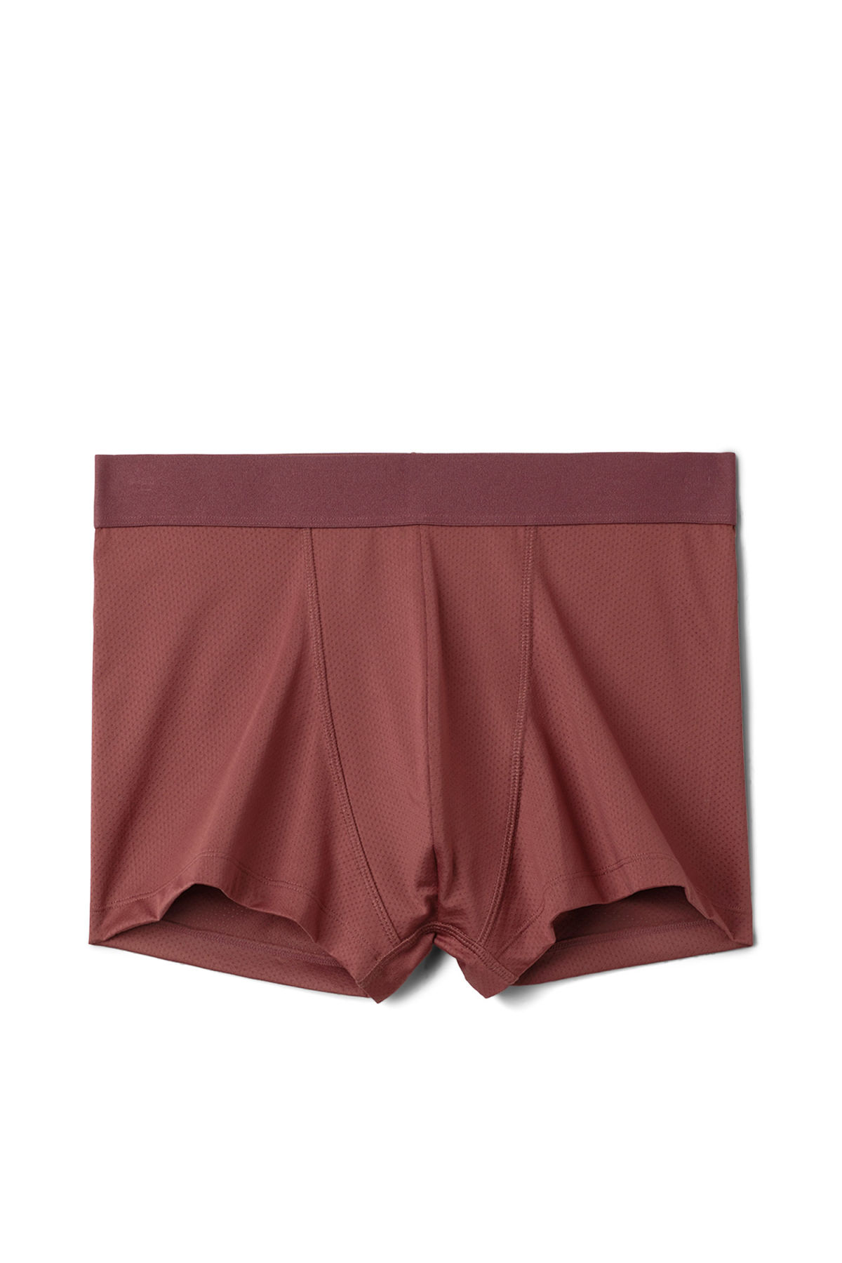 Front image of Weekday jack boxers in red