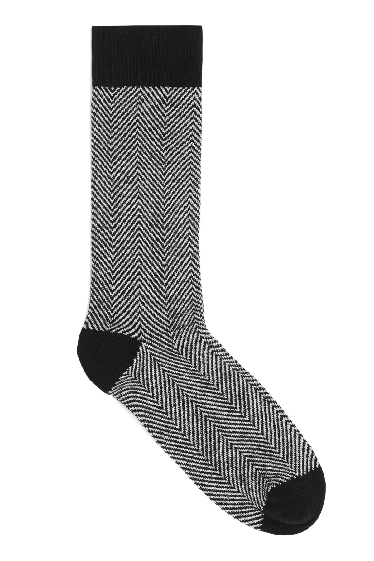 Front image of Weekday sail socks in black