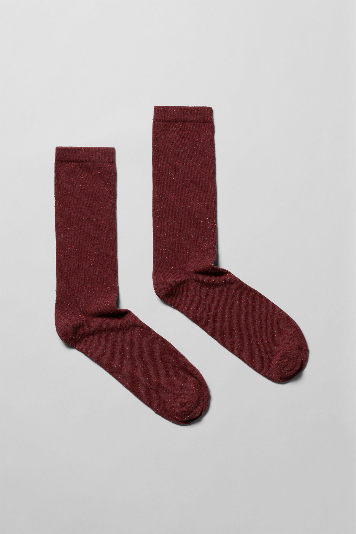 Front image of Weekday feet neps socks in red