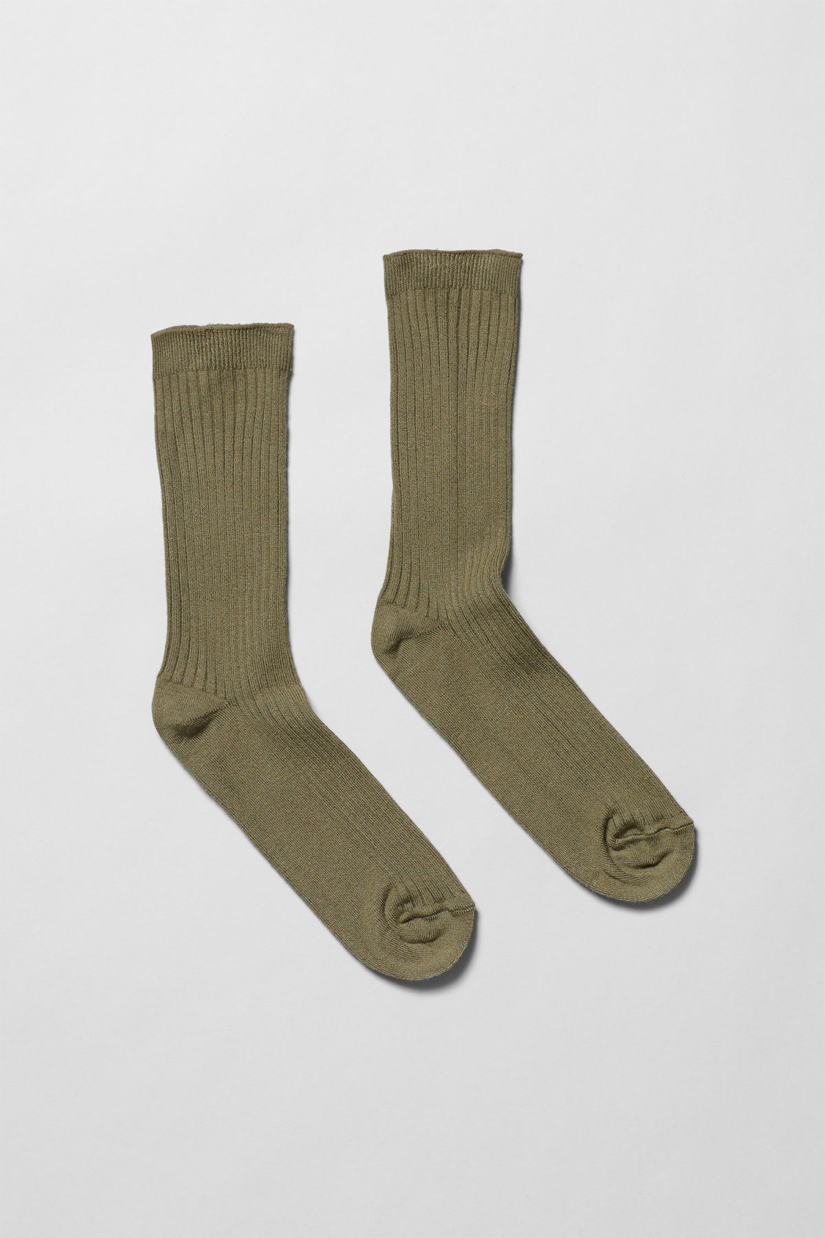 Front image of Weekday bam socks in green