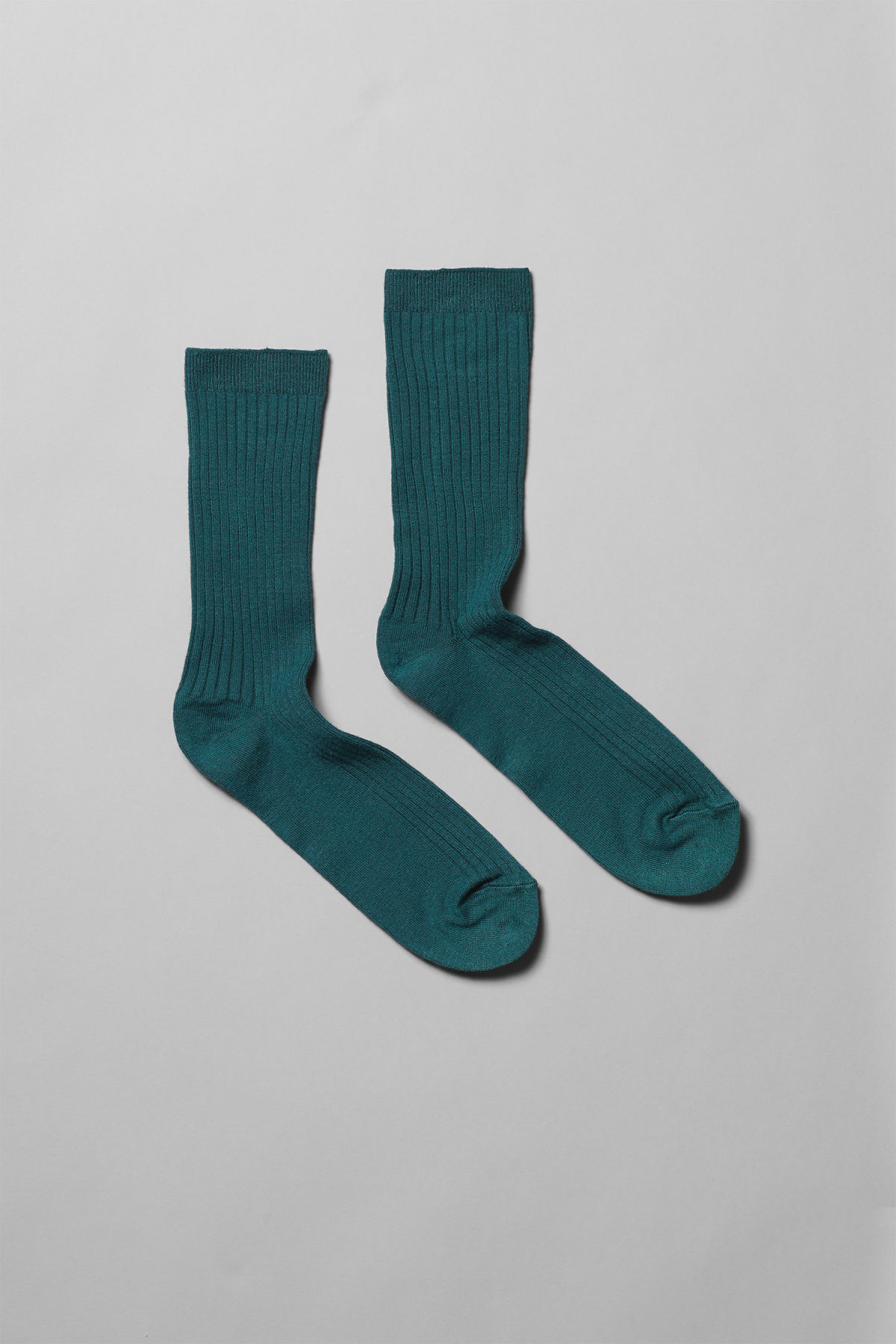 Front image of Weekday bam socks in turquoise