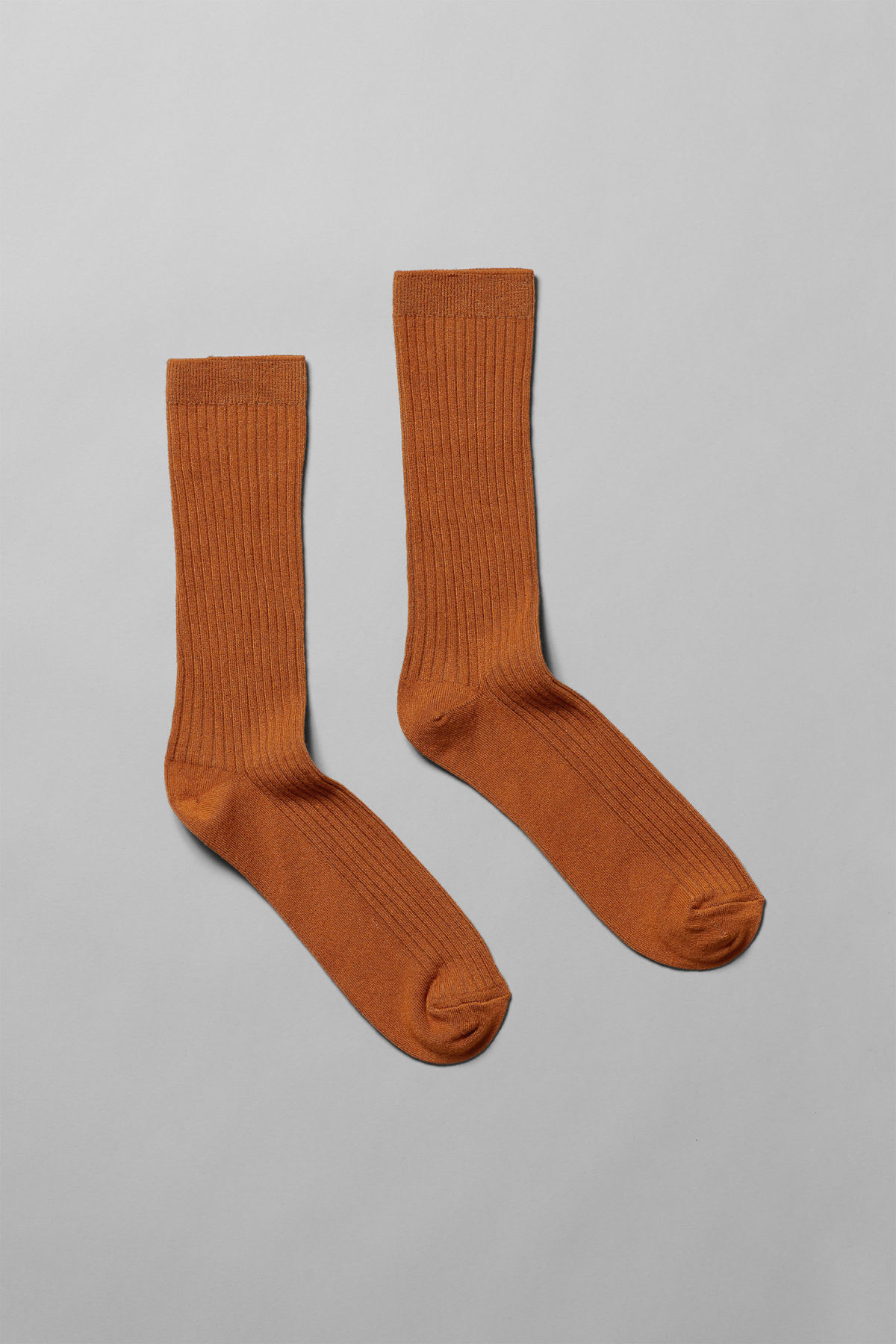 Front image of Weekday bam socks in orange