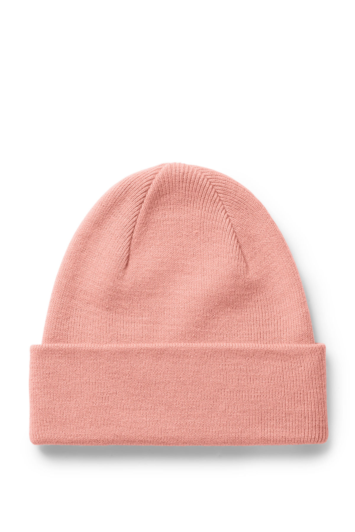 Front image of Weekday hero knit beanie in orange