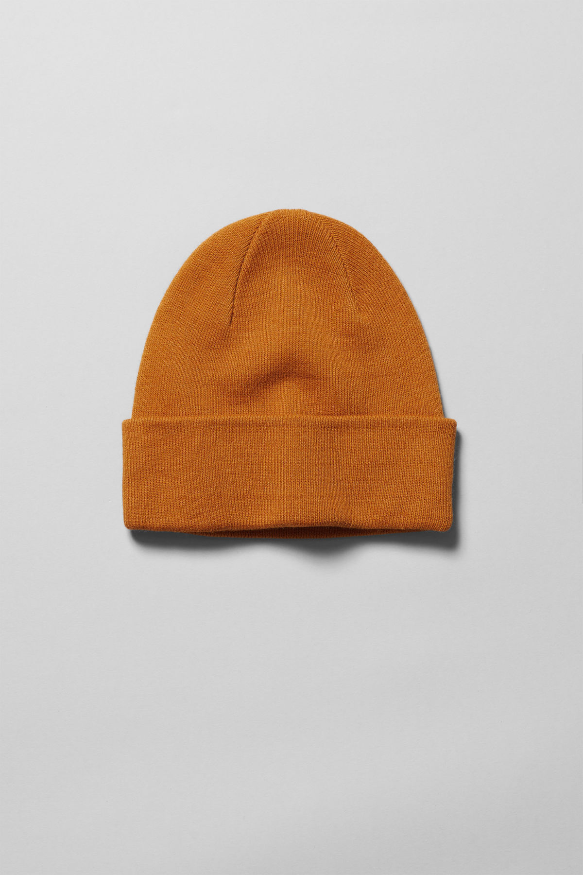 Front image of Weekday hero knit beanie in yellow