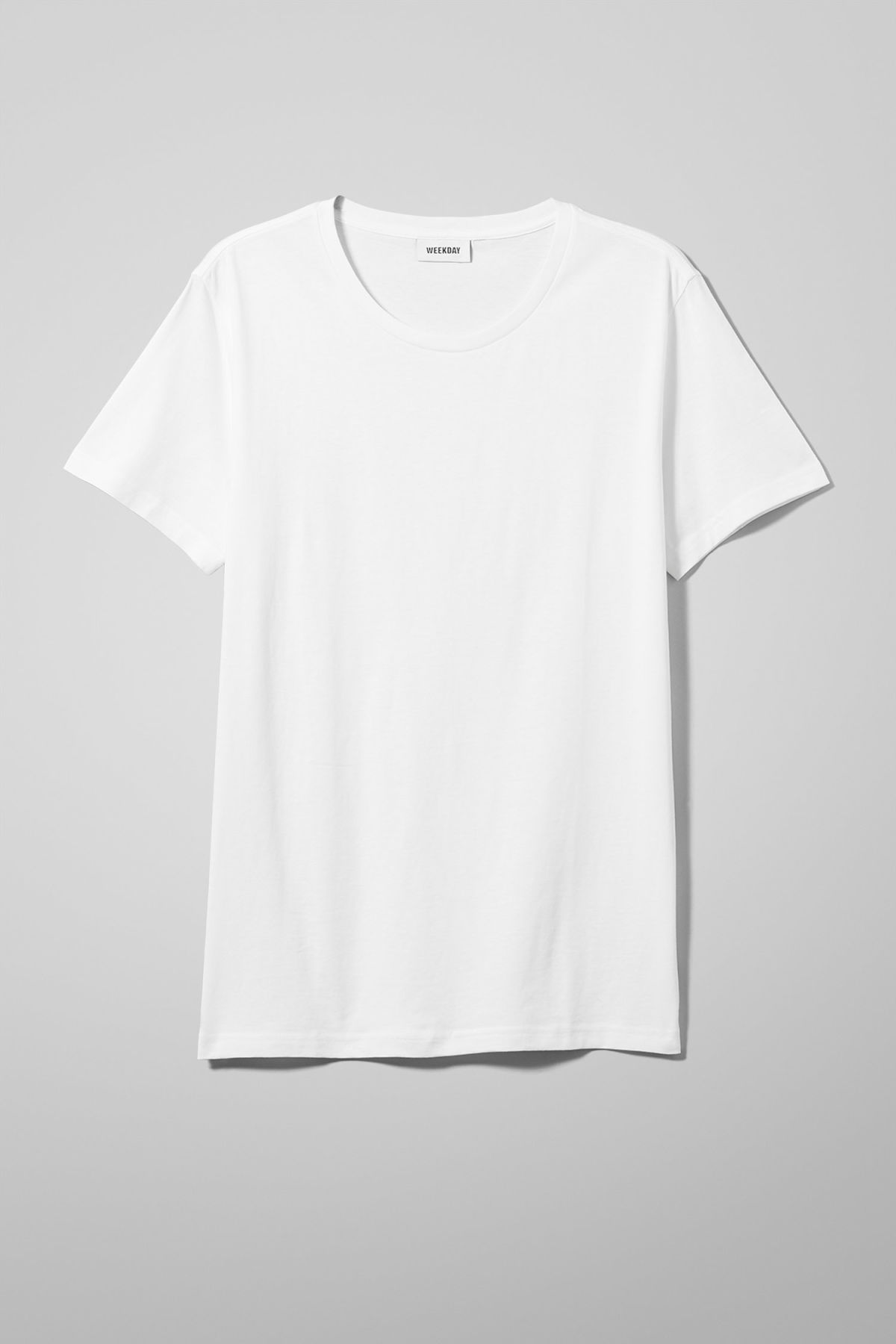 Front image of Weekday alex t-shirt in white