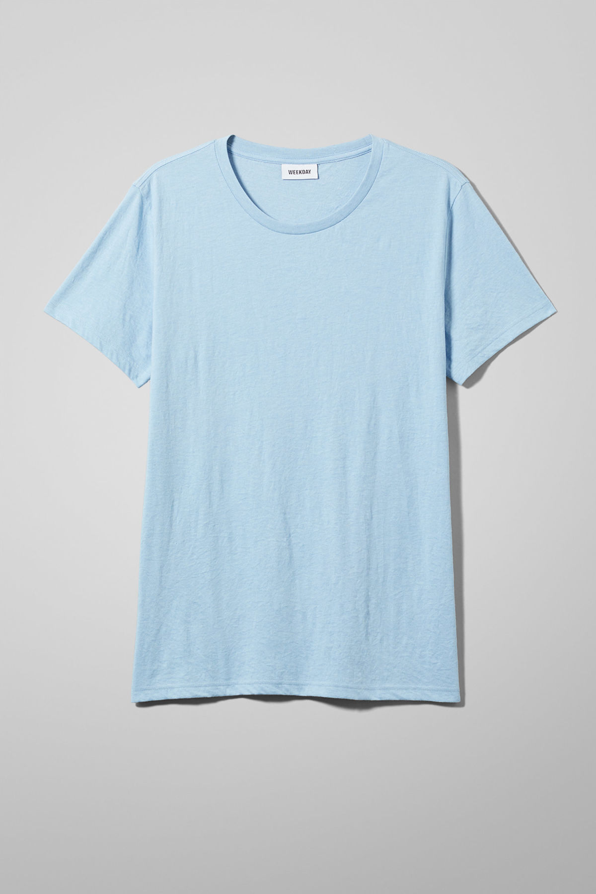 Front image of Weekday alex t-shirt in blue