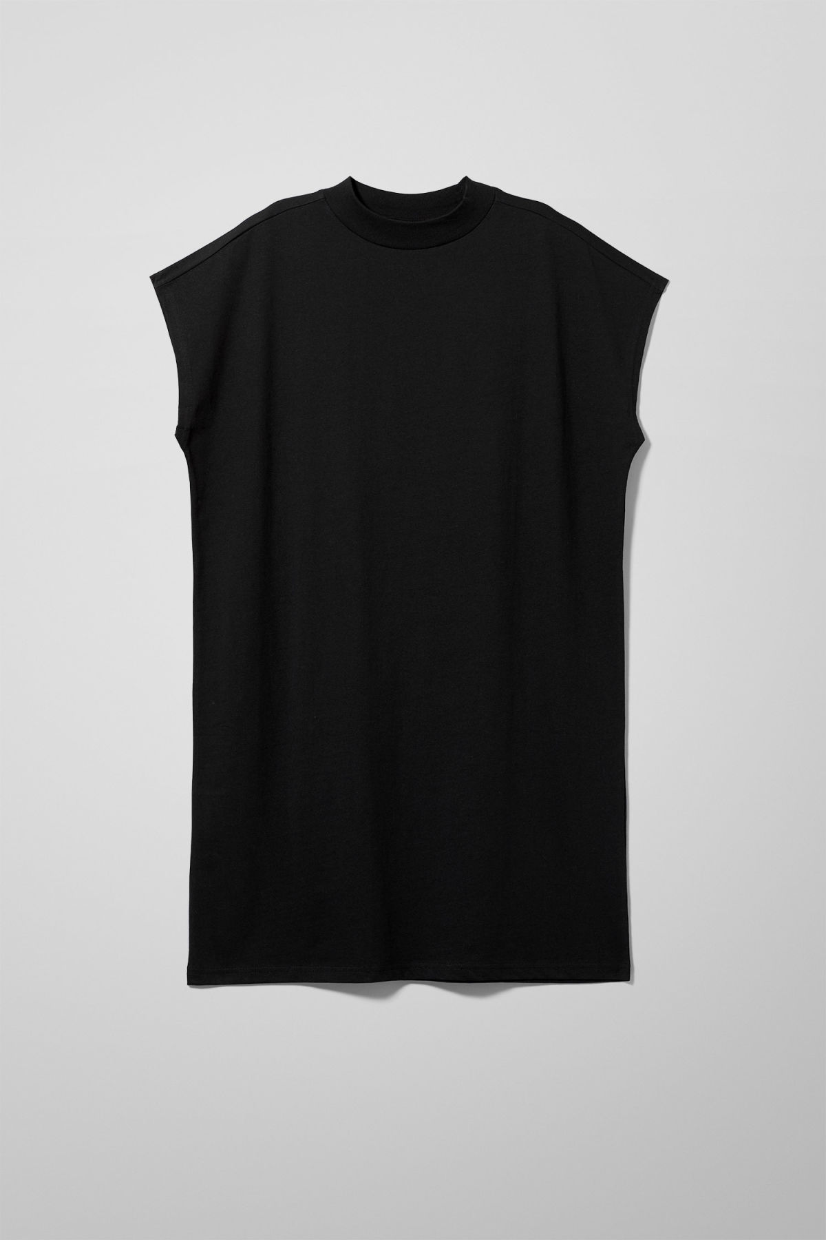 Front image of Weekday prime dress in black