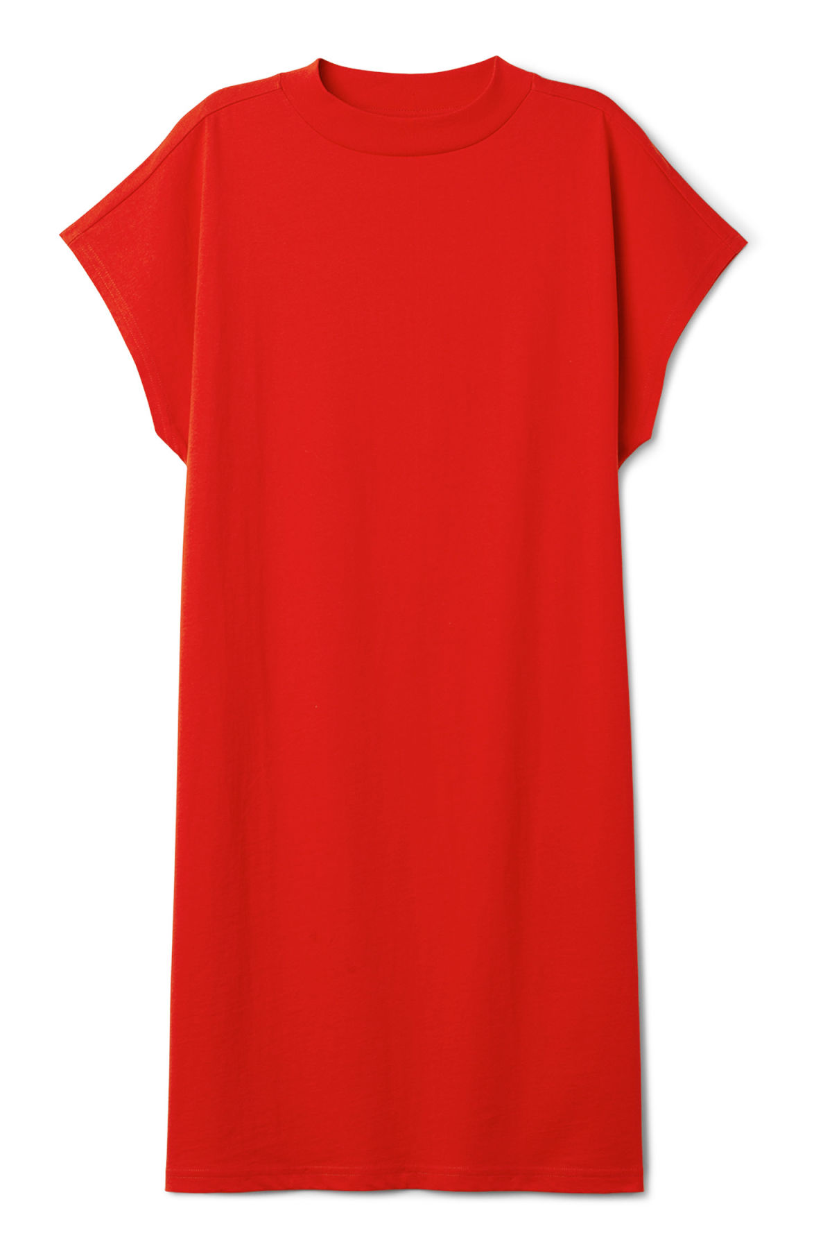Front image of Weekday prime dress in red