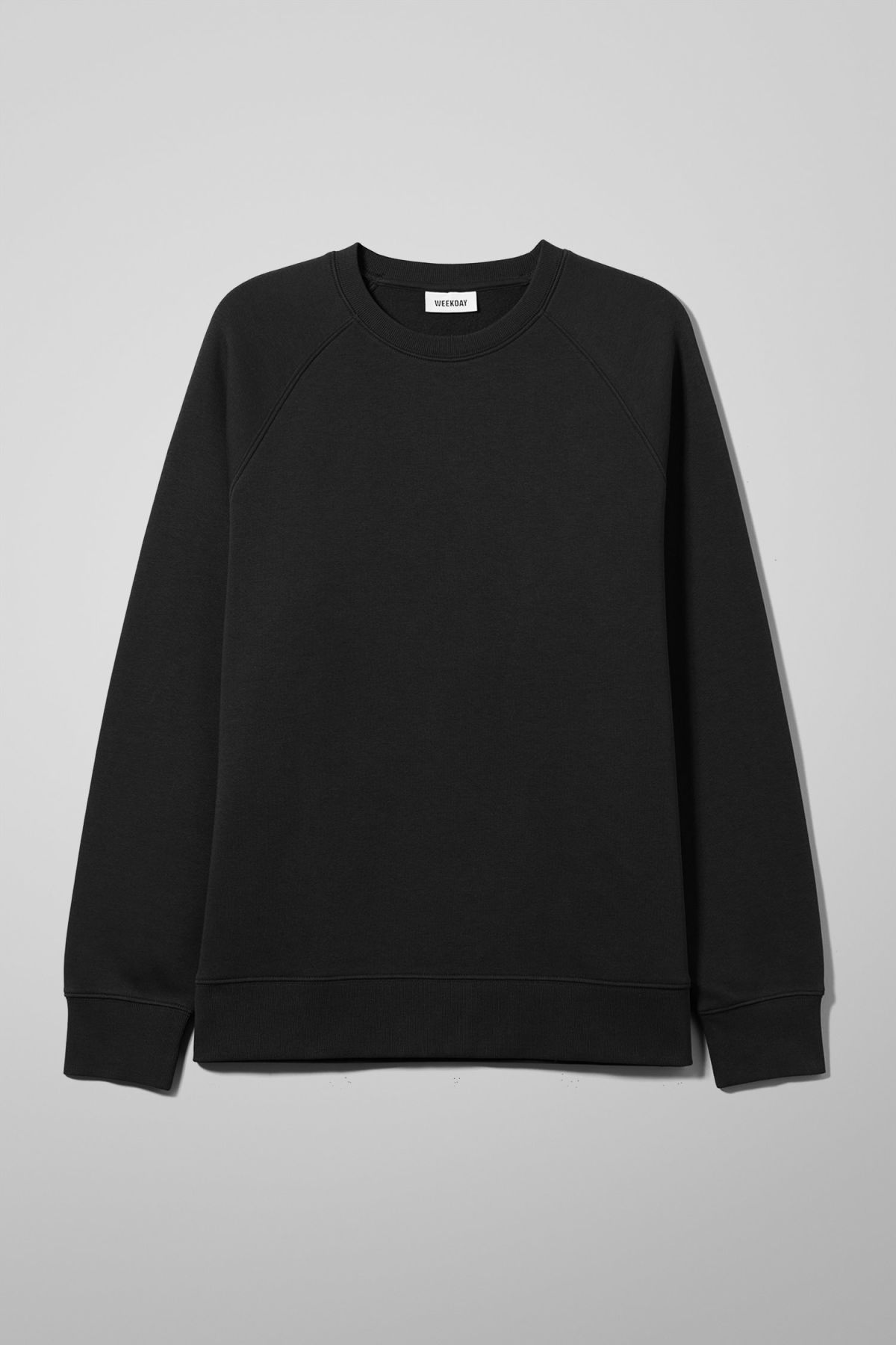 Front image of Weekday paris sweatshirt in black