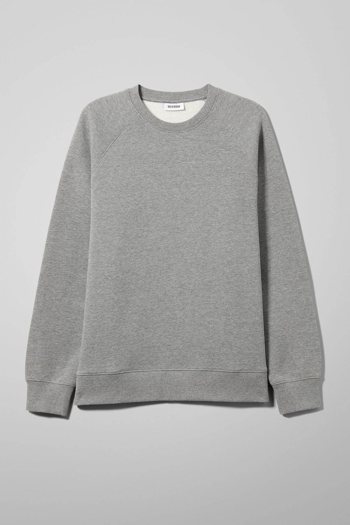 Front image of Weekday paris sweatshirt in grey