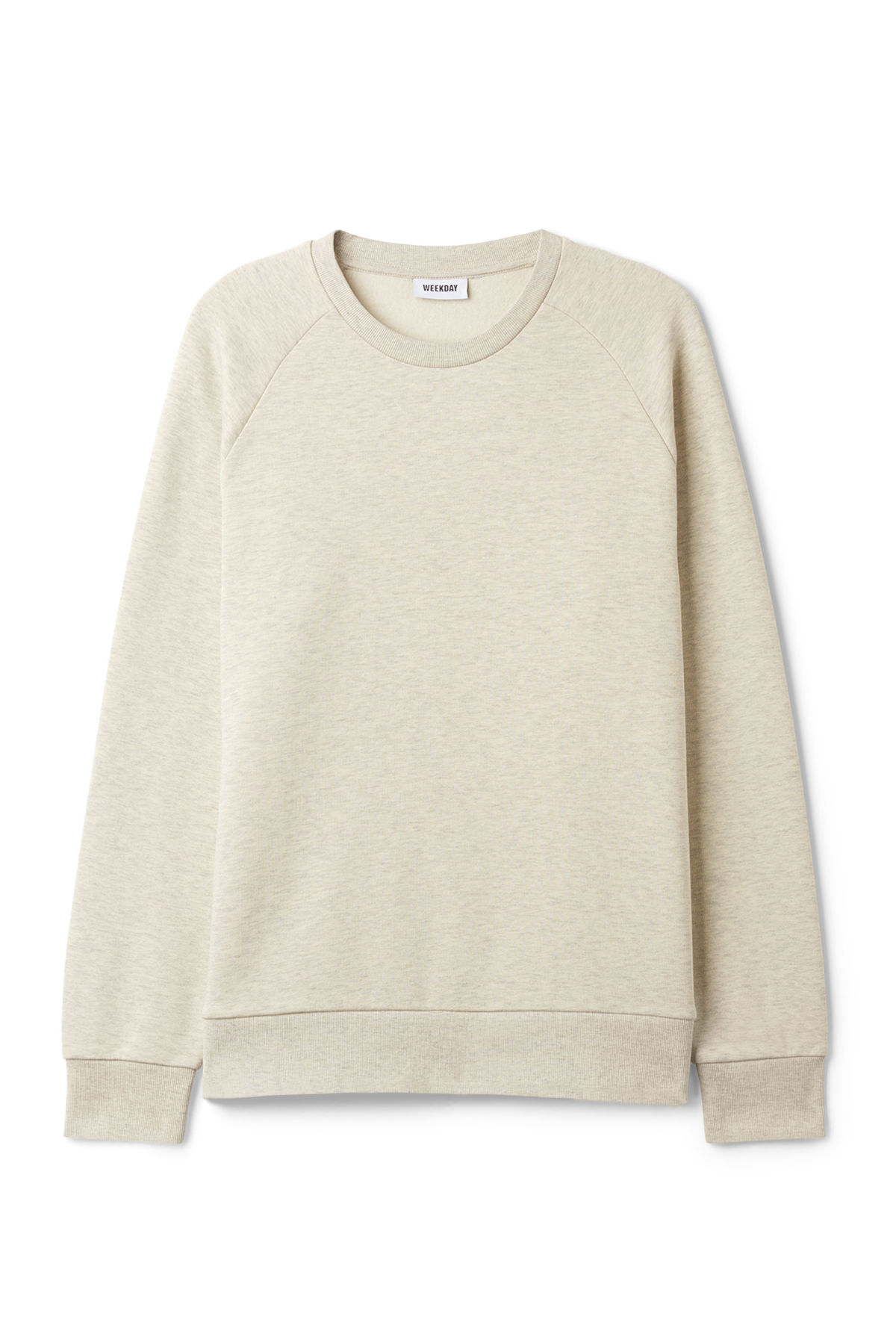Front image of Weekday paris sweatshirt in brown