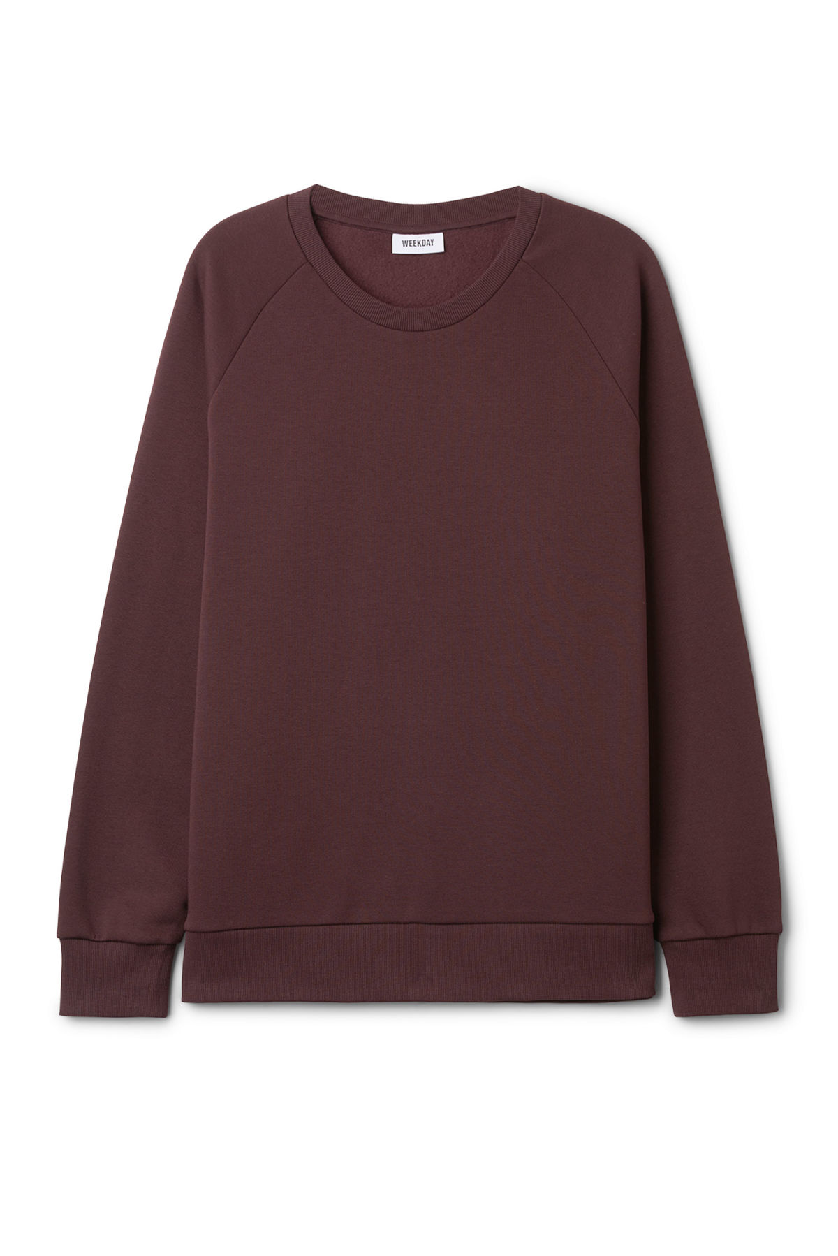 Front image of Weekday paris sweatshirt in red