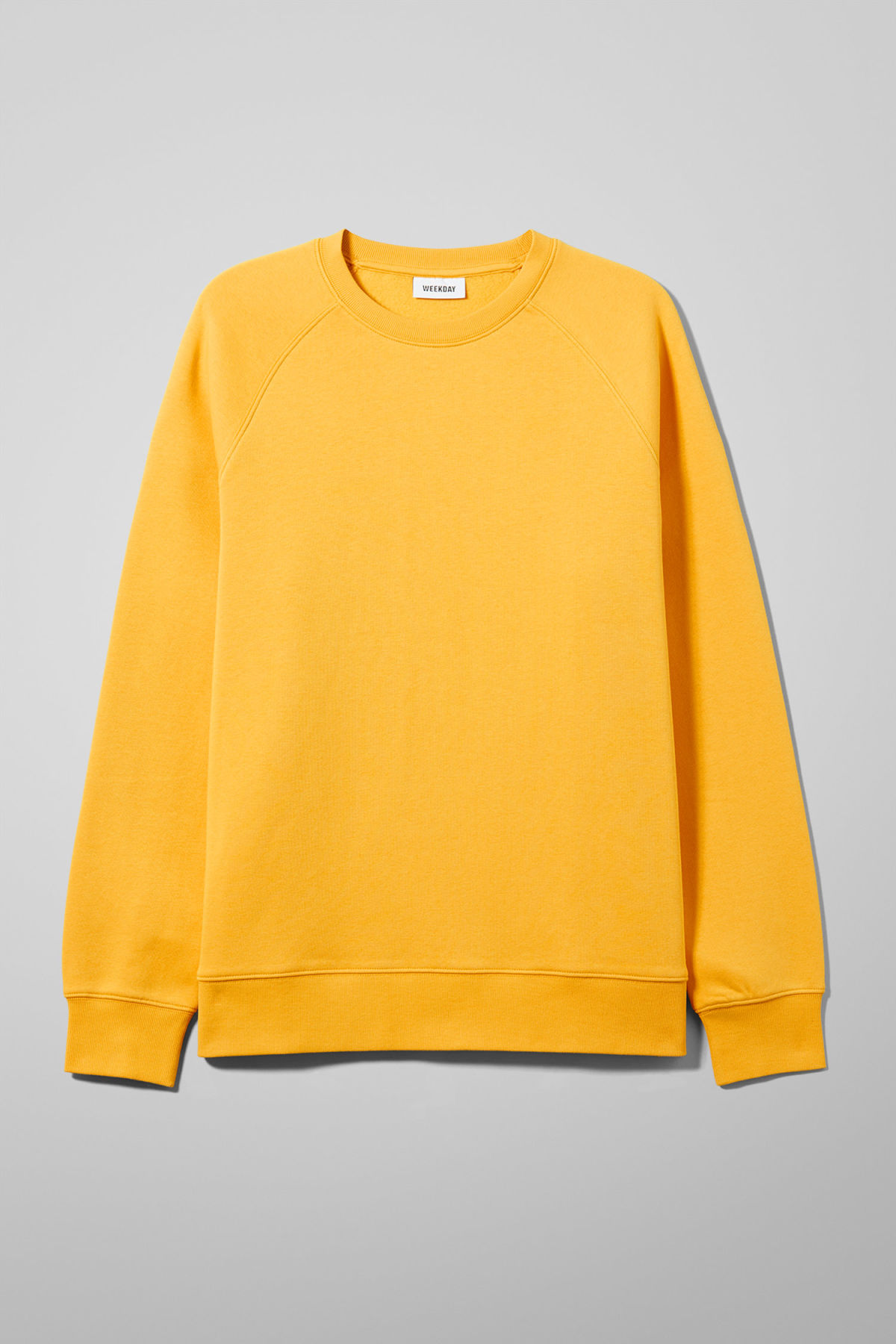 Front image of Weekday paris sweatshirt in yellow