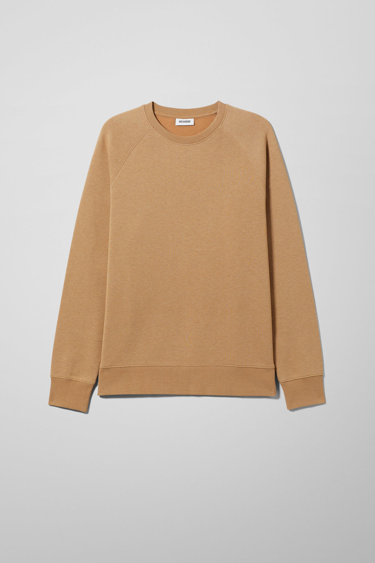 Front image of Weekday paris sweatshirt in beige