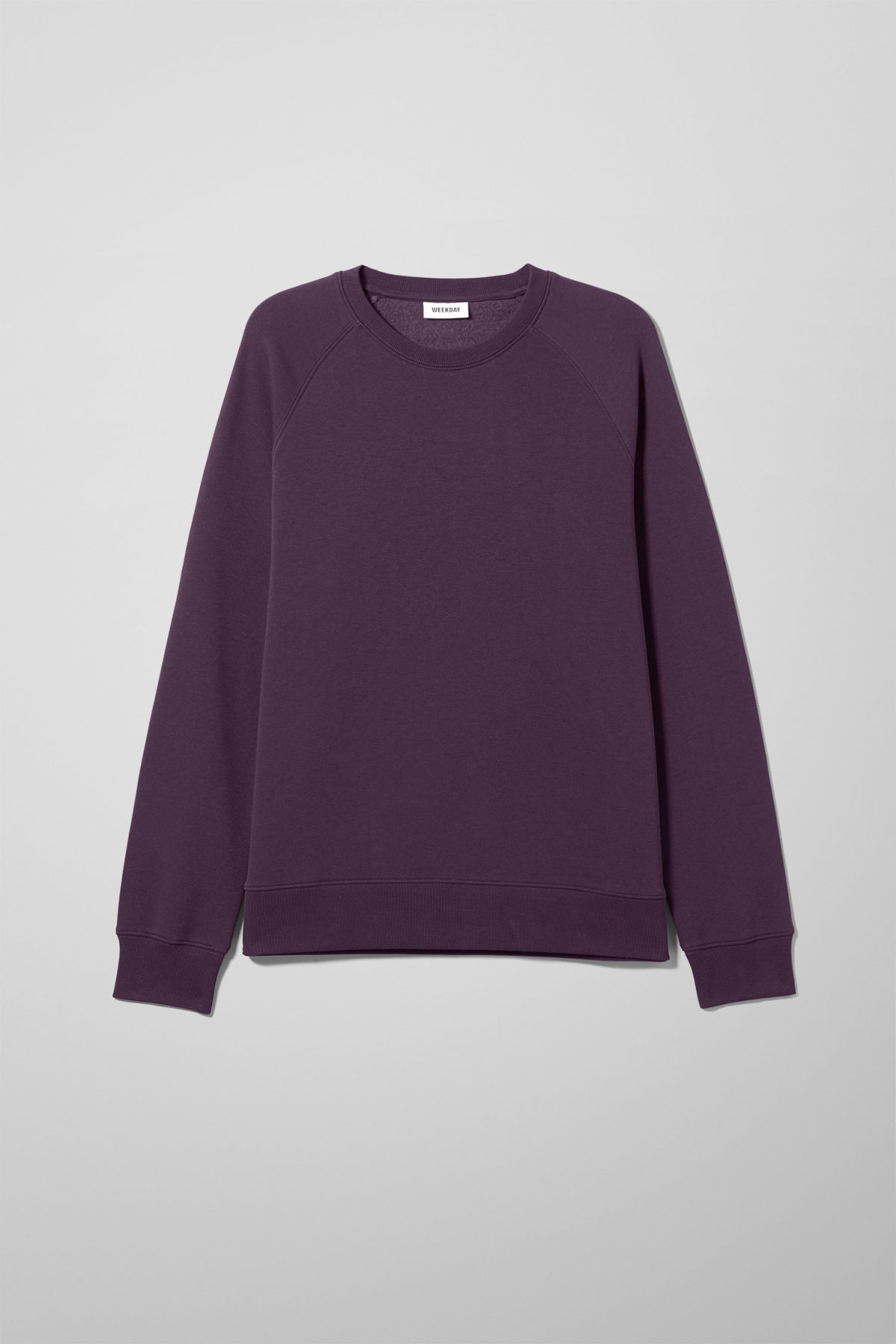 Front image of Weekday paris sweatshirt in purple