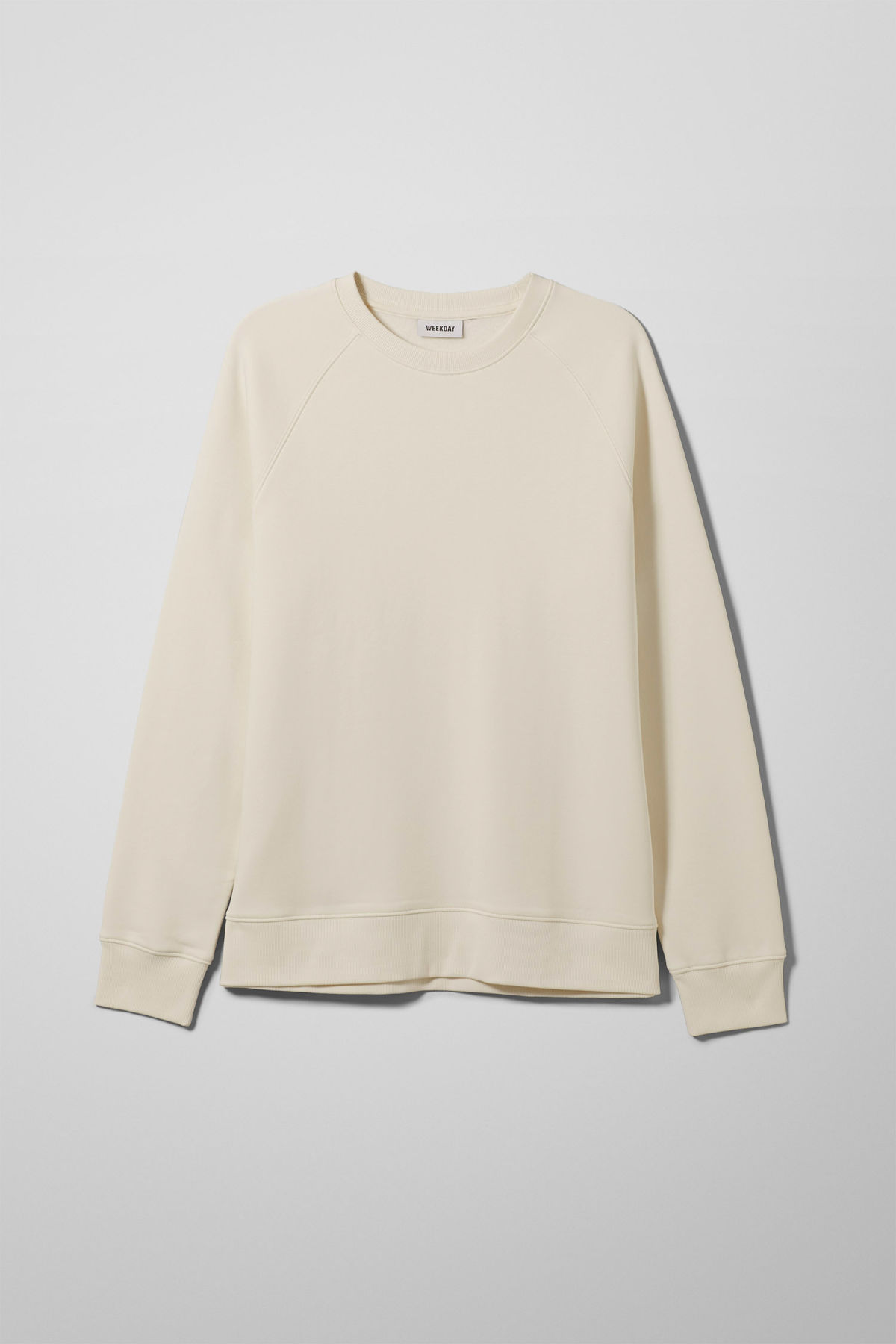Front image of Weekday paris sweatshirt in white