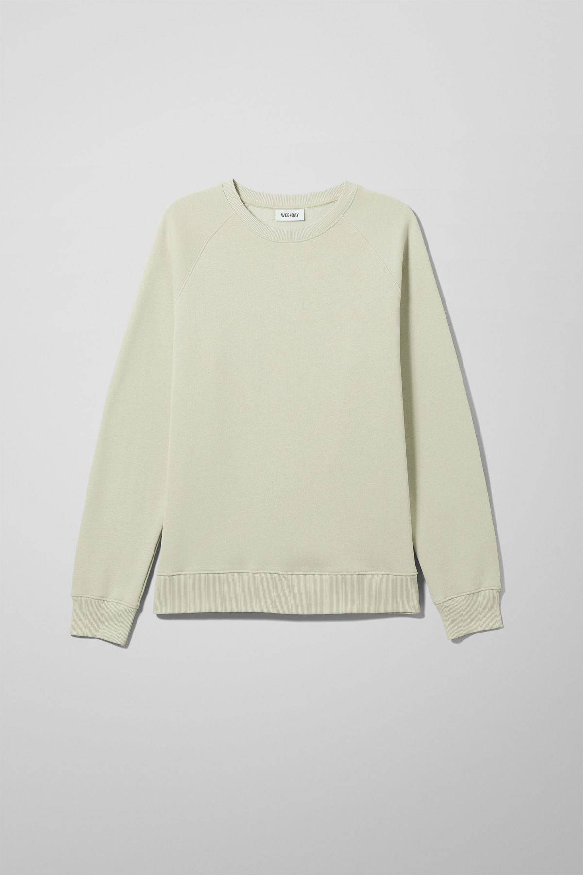 Front image of Weekday paris sweatshirt in green