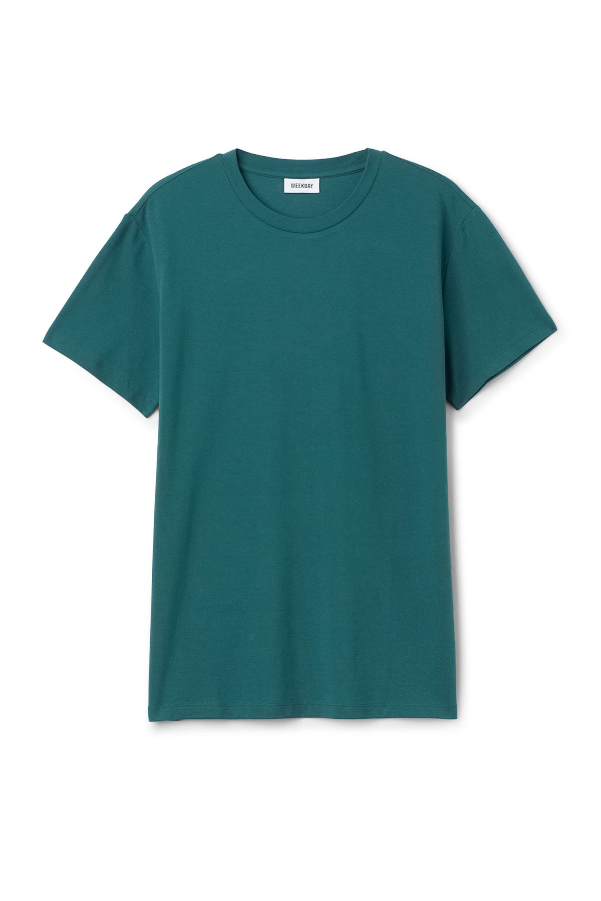 Front image of Weekday tennis t-shirt in turquoise