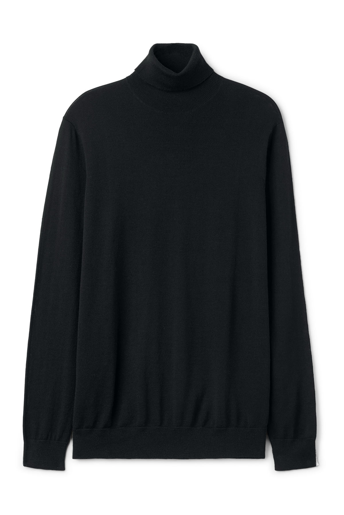 Front image of Weekday connor turtleneck in black
