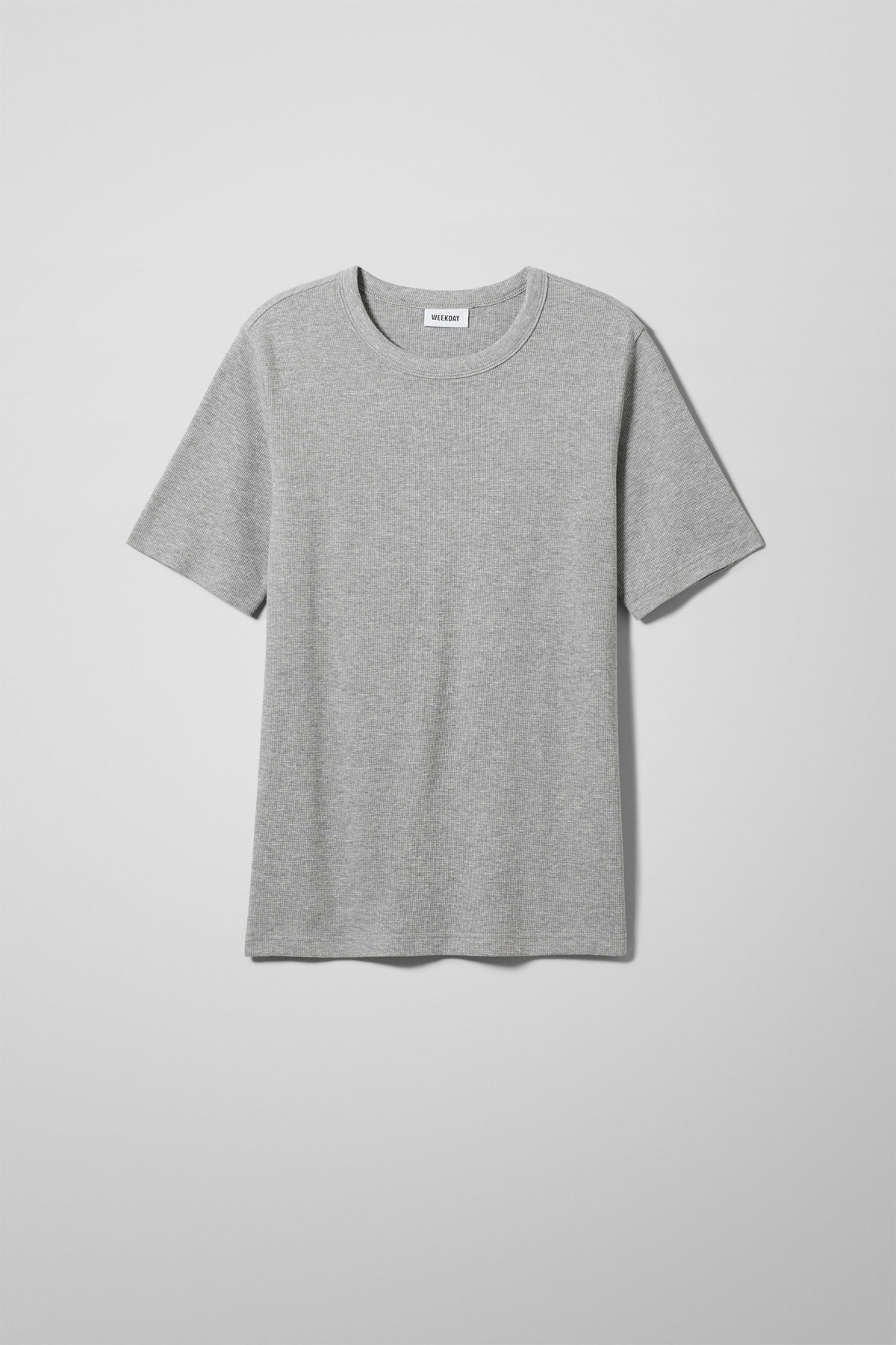 Front image of Weekday grinko t-shirt in grey