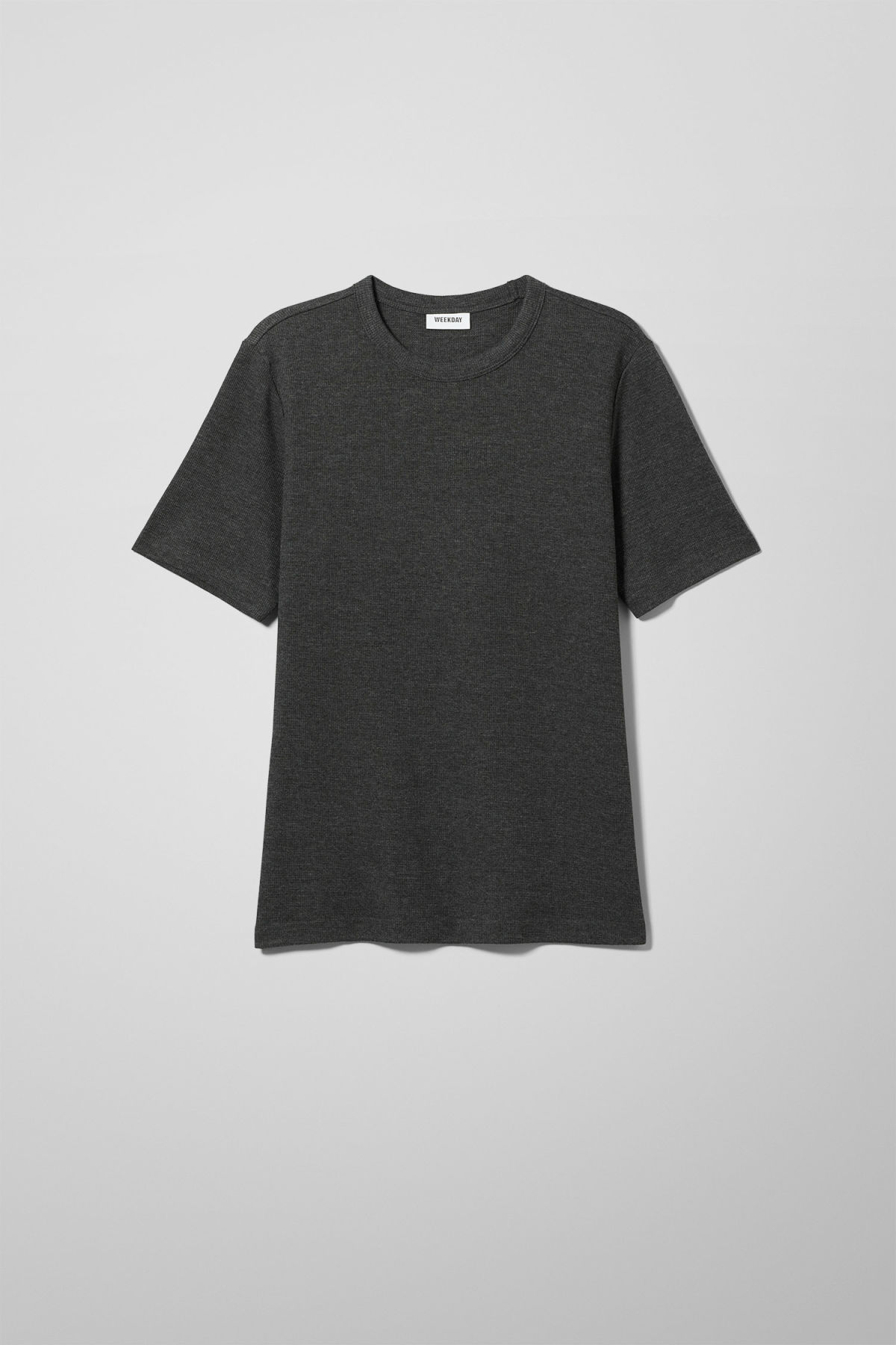 Front image of Weekday grinko t-shirt in black