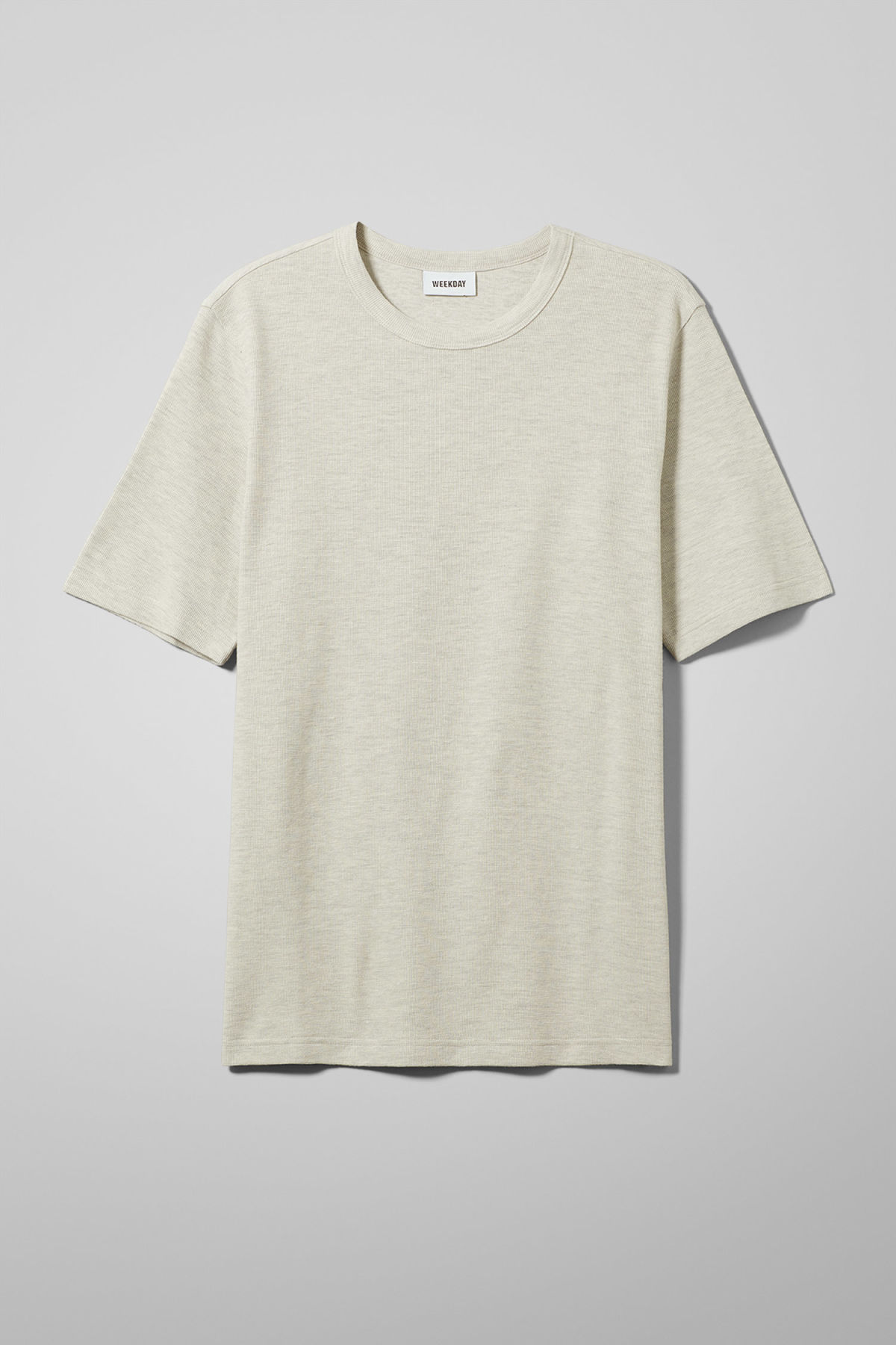 Front image of Weekday grinko t-shirt in brown