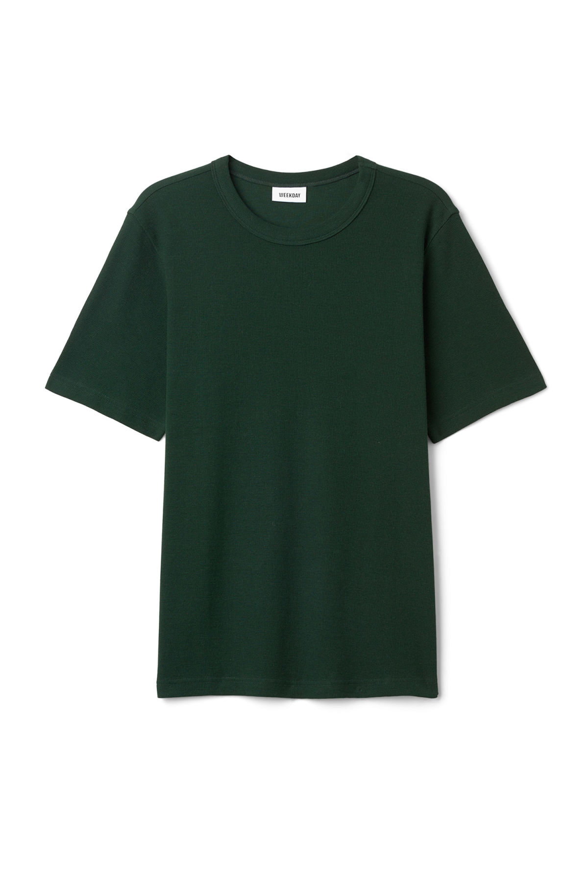 Front image of Weekday grinko t-shirt in green