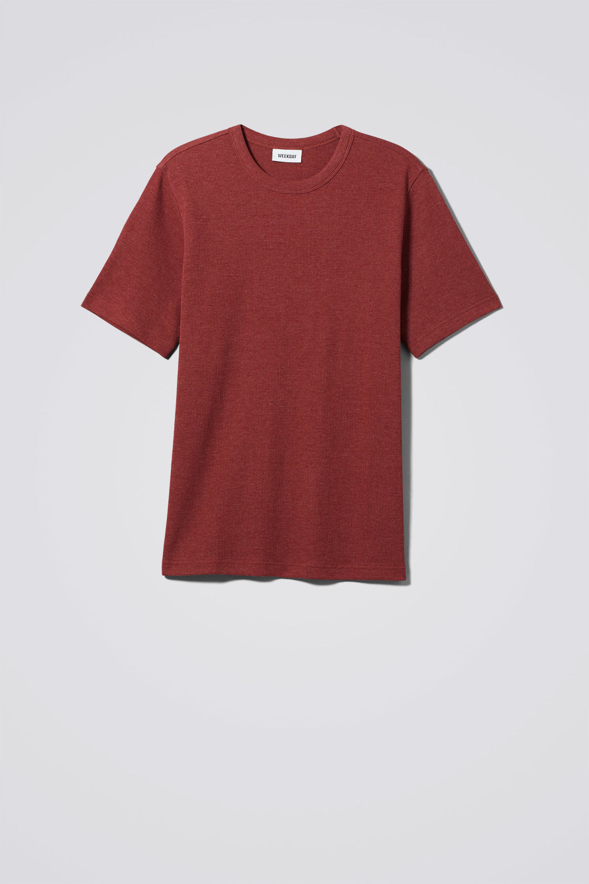 Front image of Weekday grinko t-shirt in red