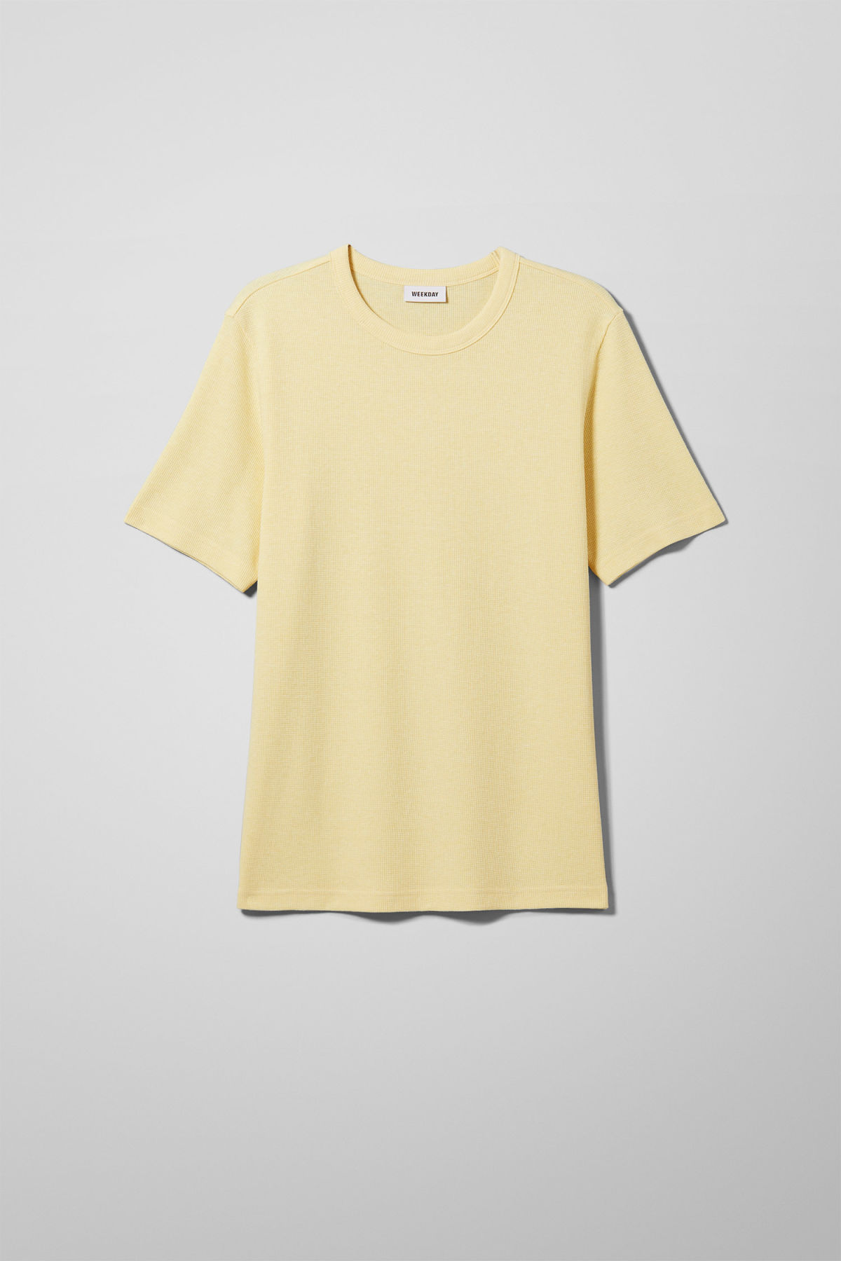 Front image of Weekday grinko t-shirt in yellow