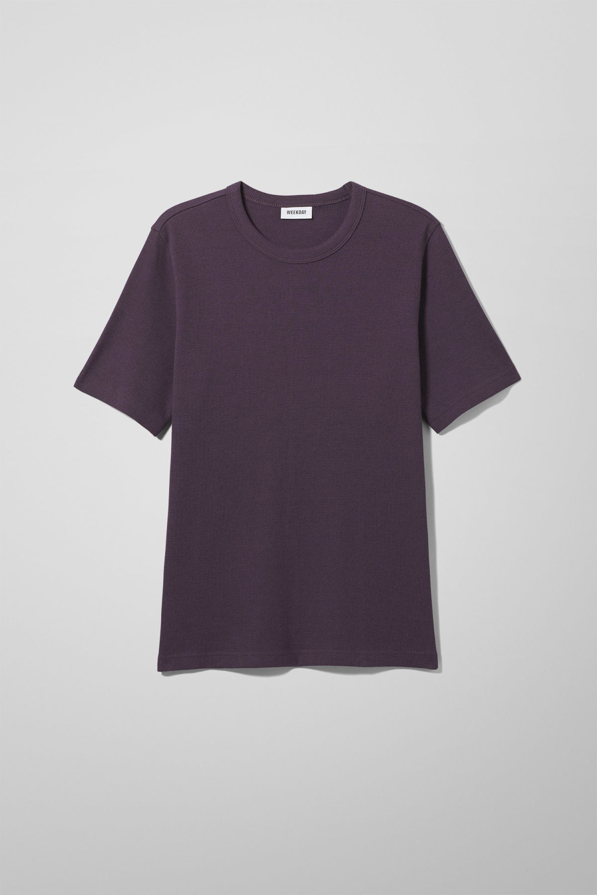 Front image of Weekday grinko t-shirt in purple