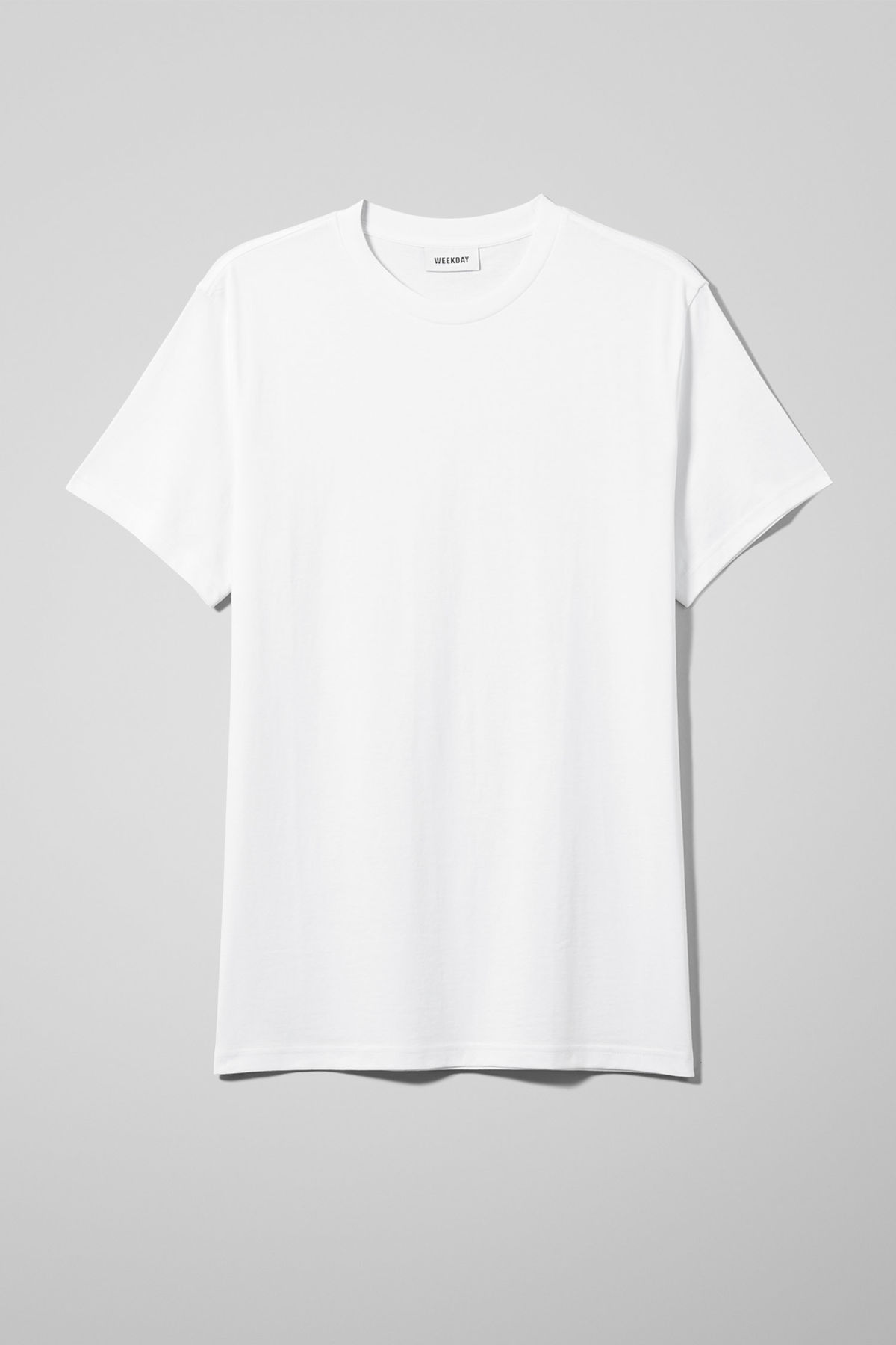 Front image of Weekday alan t-shirt in white