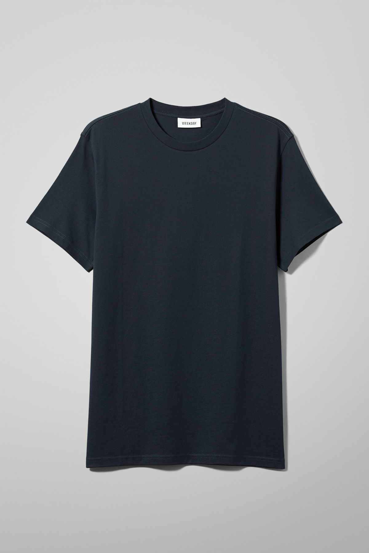 Front image of Weekday alan t-shirt in blue