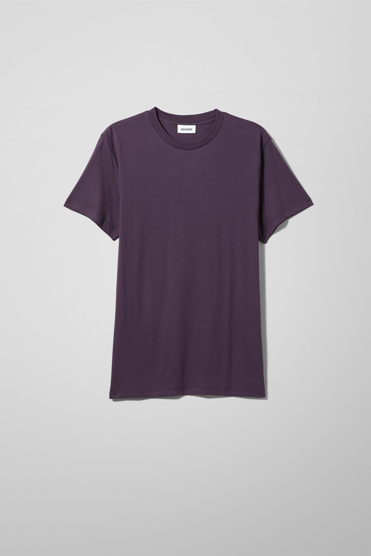 Front image of Weekday alan t-shirt in purple